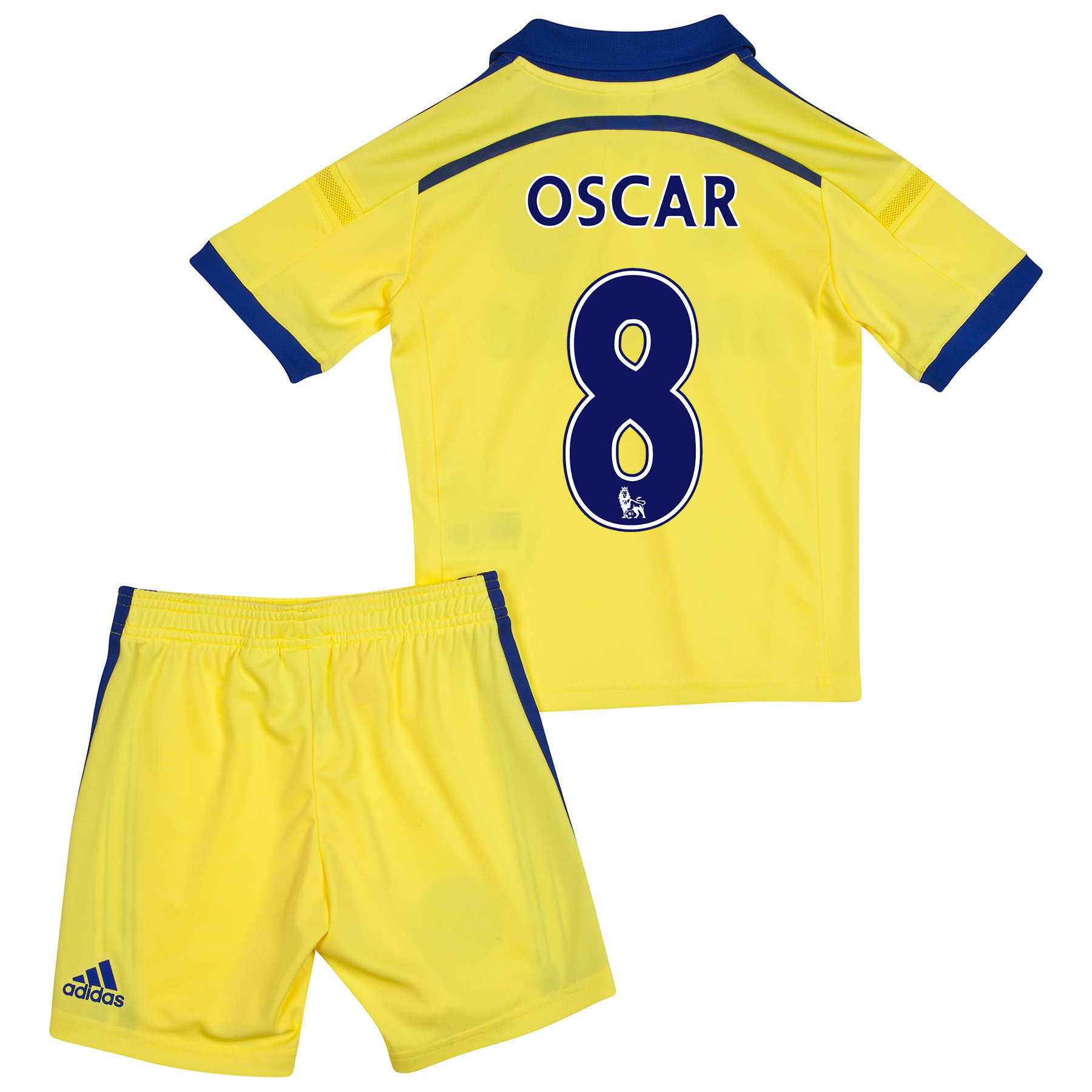 Chelsea Away Mini Kit 2014/15 Yellow with Oscar 11 printing