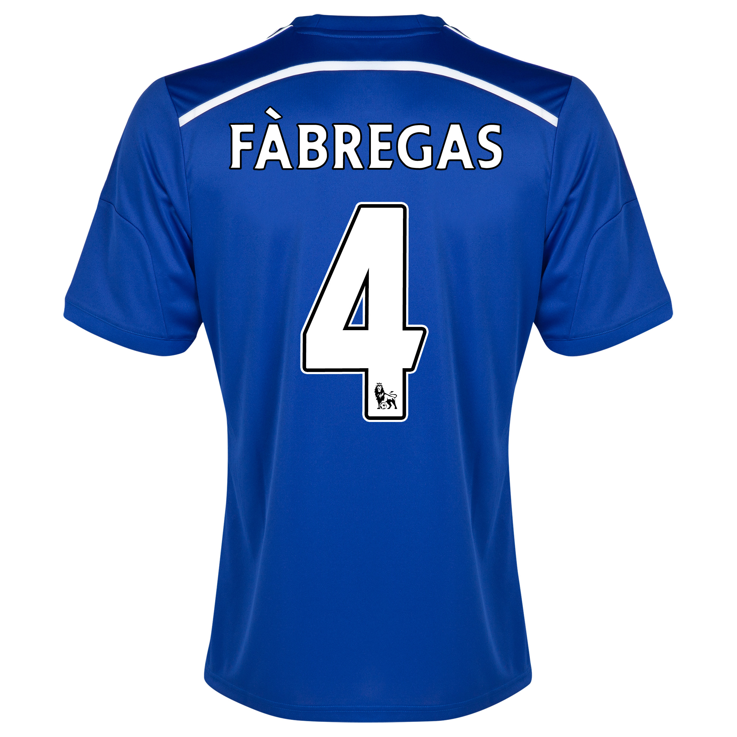 Chelsea Home Shirt 2014/15 Blue with Fàbregas 4 printing