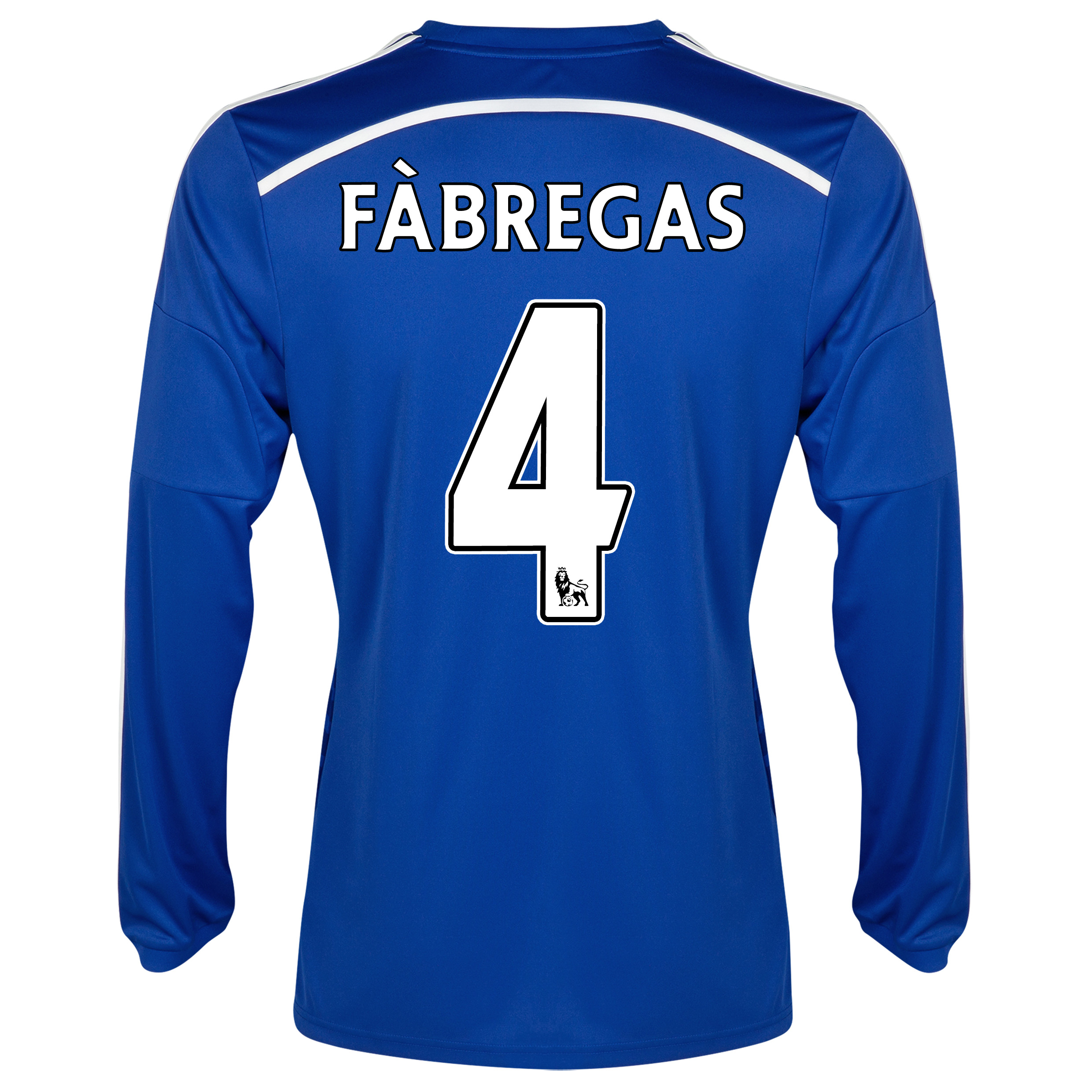 Chelsea Home Shirt 2014/15 - Long Sleeve Blue with Fàbregas 4 printing