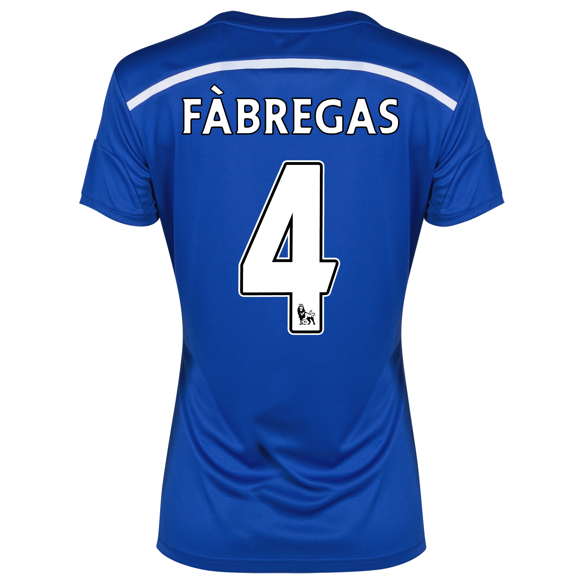 Chelsea Home Shirt 2014/15 - Womens Blue with Fàbregas 4 printing