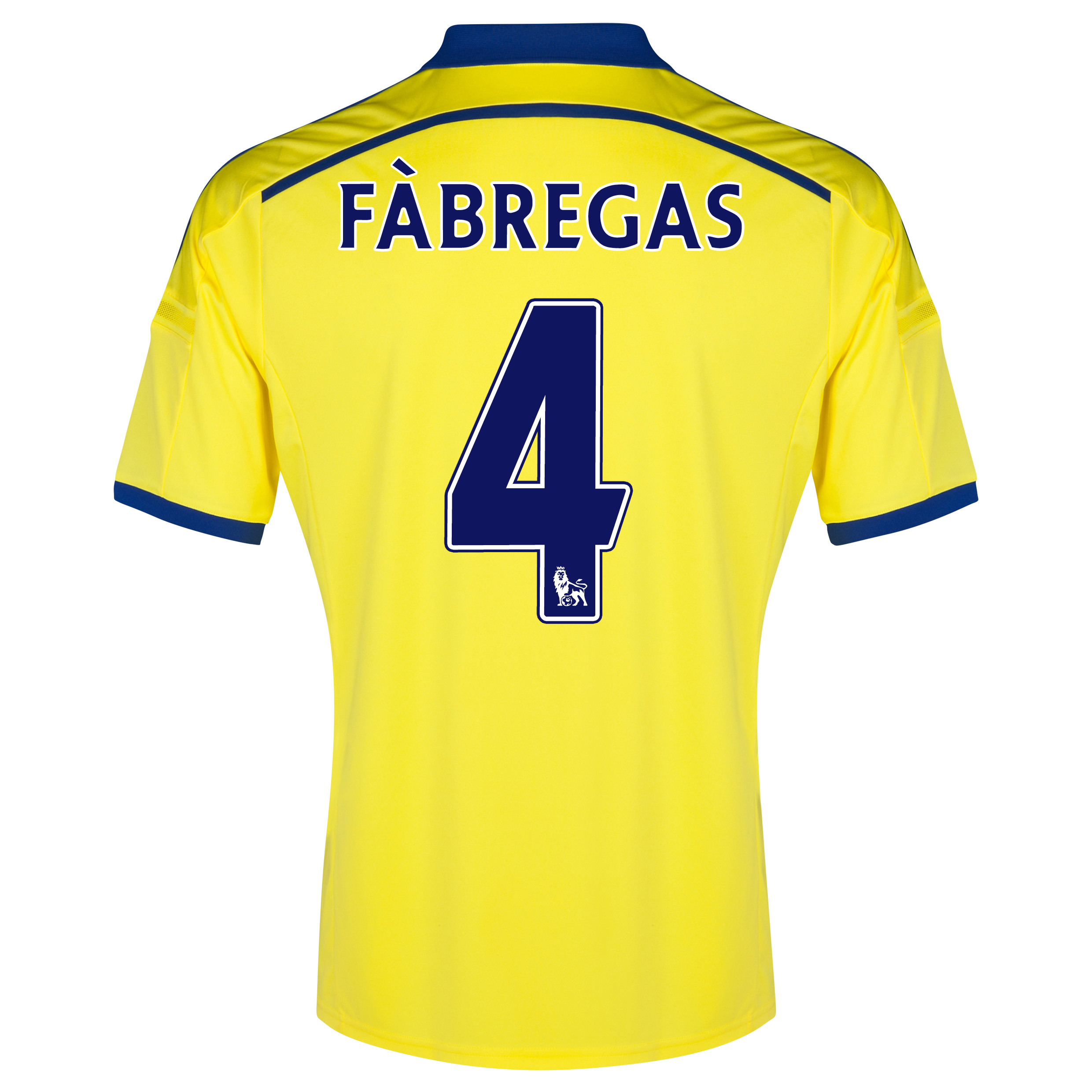 Chelsea Away Shirt 2014/15 Yellow with Fàbregas 4 printing