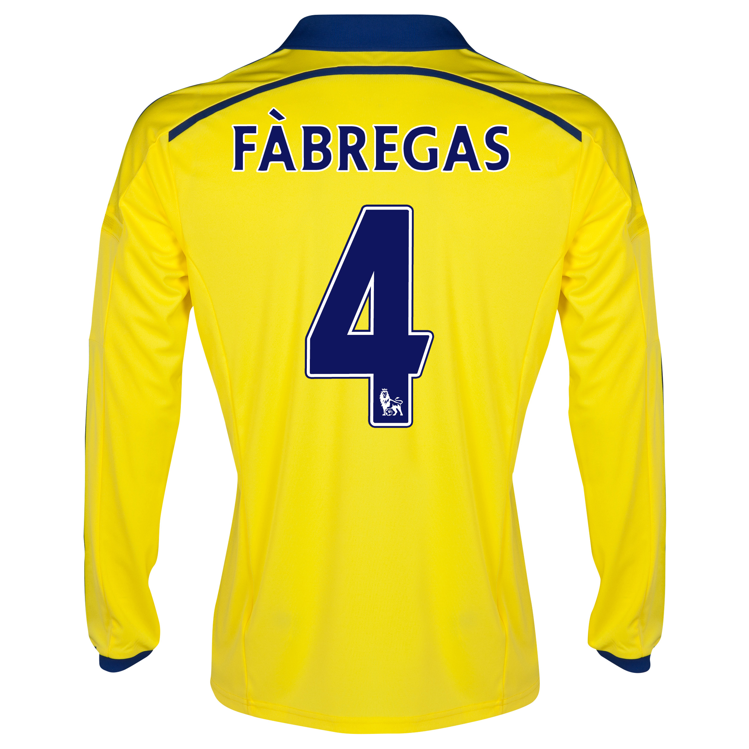 Chelsea Away Shirt 2014/15 - Long Sleeve Yellow with Fàbregas 4 printing