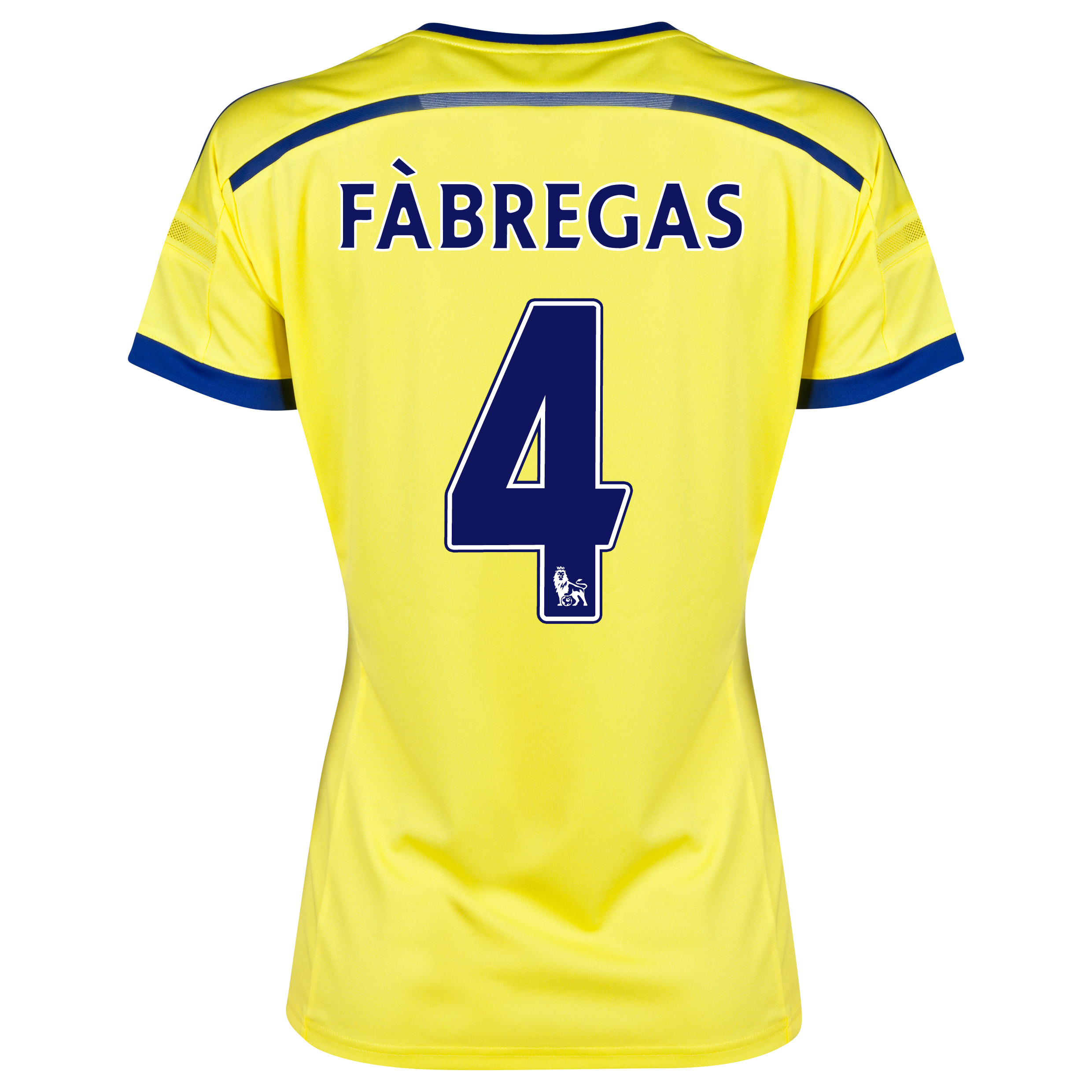 Chelsea Away Shirt 2014/15 - Womens Yellow with Fàbregas 4 printing
