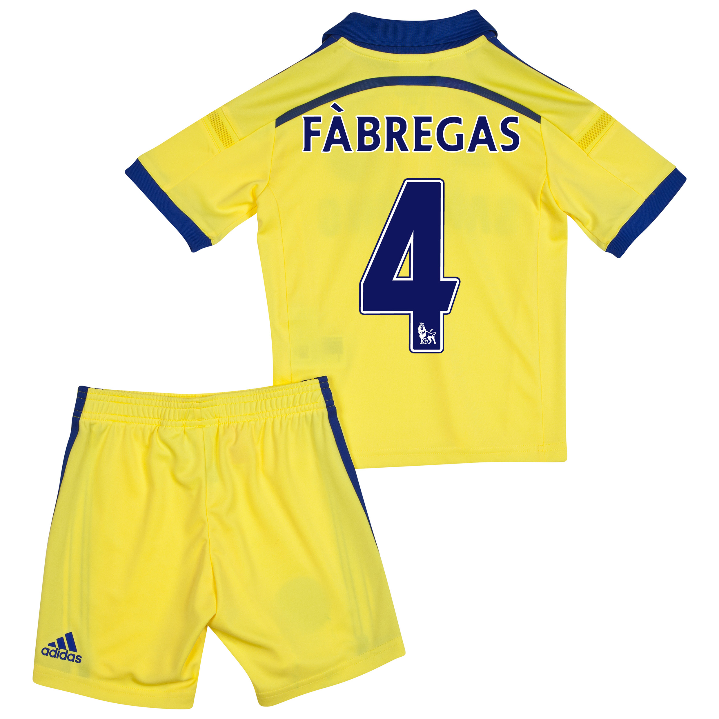 Chelsea Away Mini Kit 2014/15 Yellow with Fàbregas 4 printing