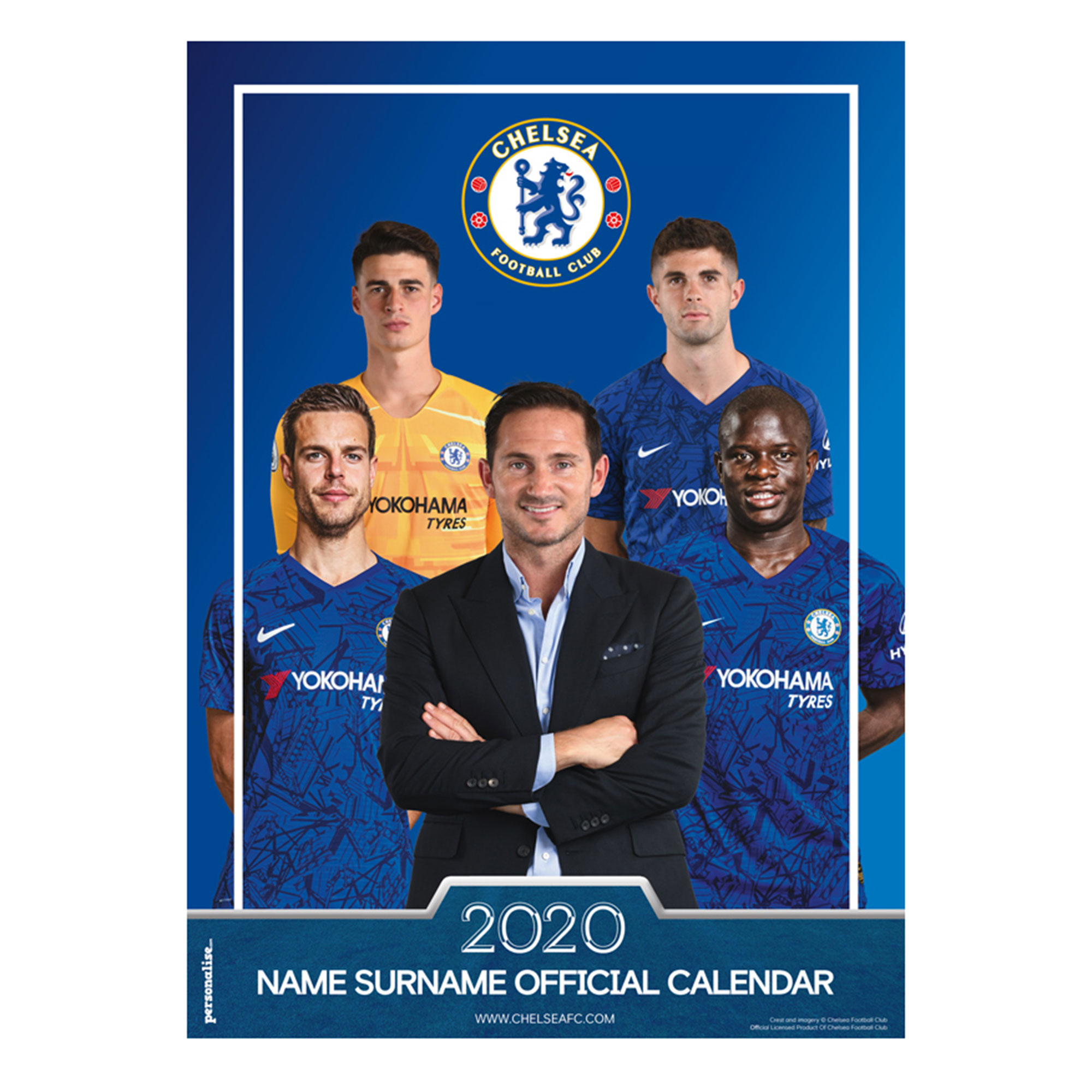 Chelsea 2013 Personalised Calendar