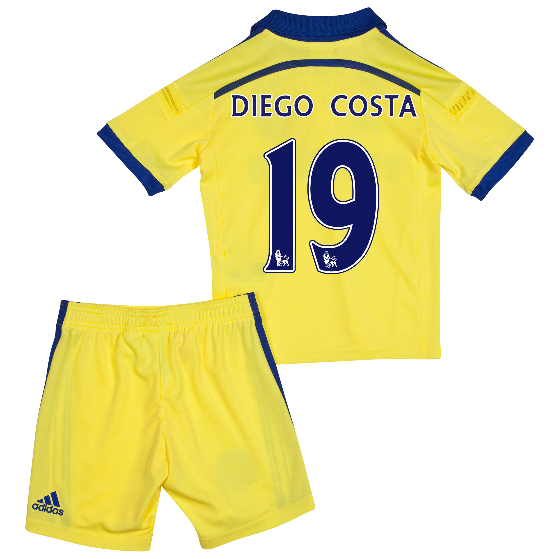 Chelsea Away Mini Kit 2014/15 Yellow with Diego Costa 19 printing