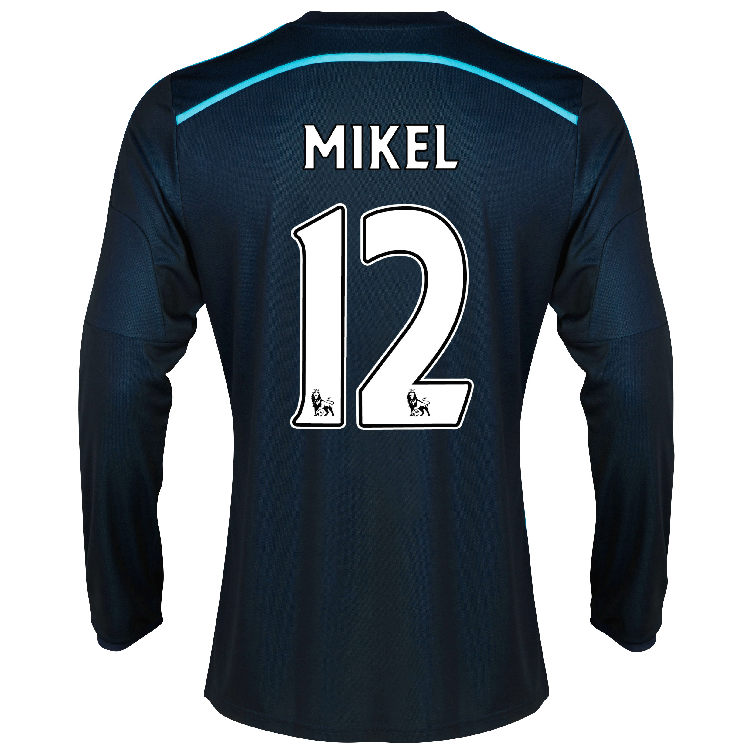 Chelsea Third Shirt 2014/15 - Long Sleeve with Mikel 12 printing