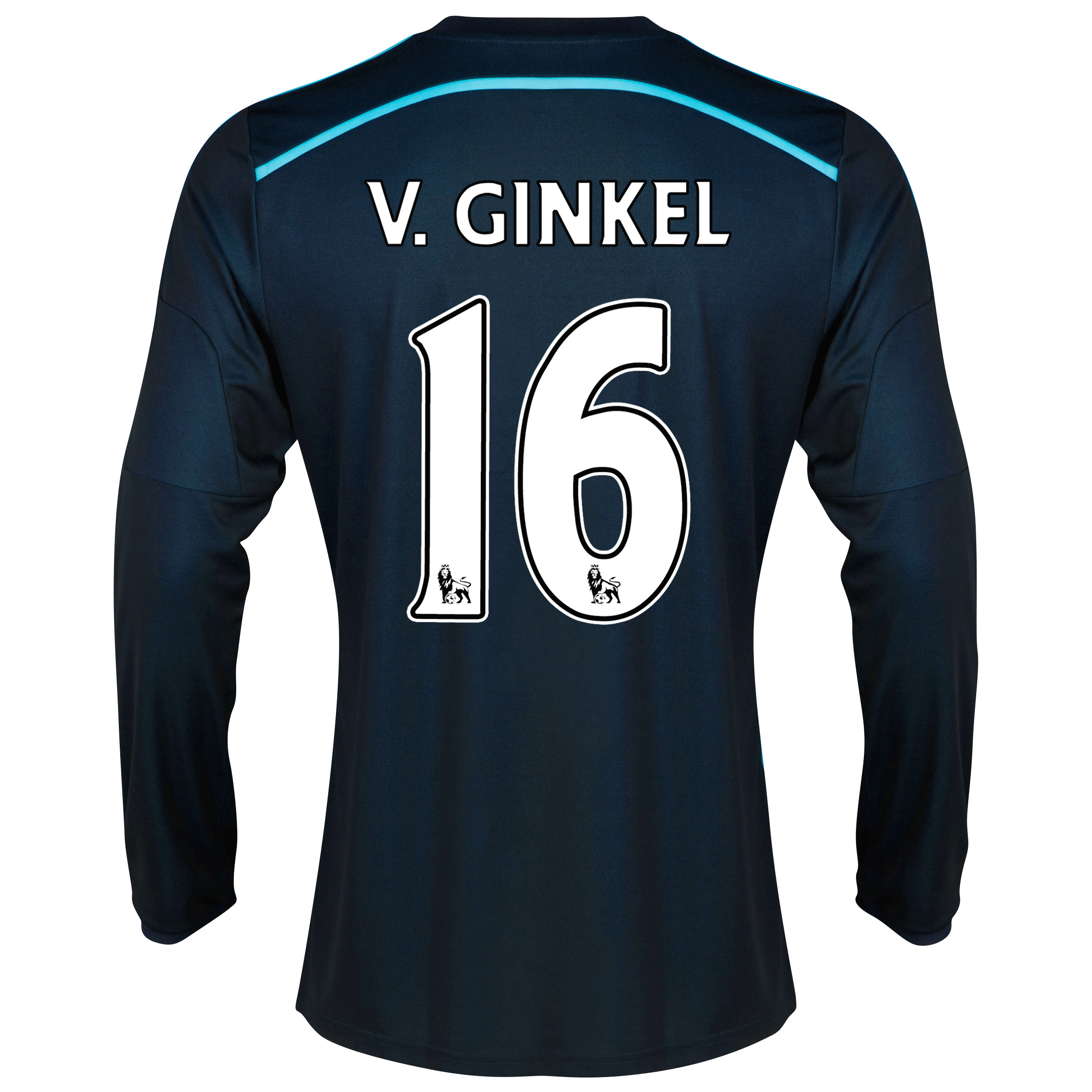 Chelsea Third Shirt 2014/15 - Long Sleeve with v.Ginkel 16 printing