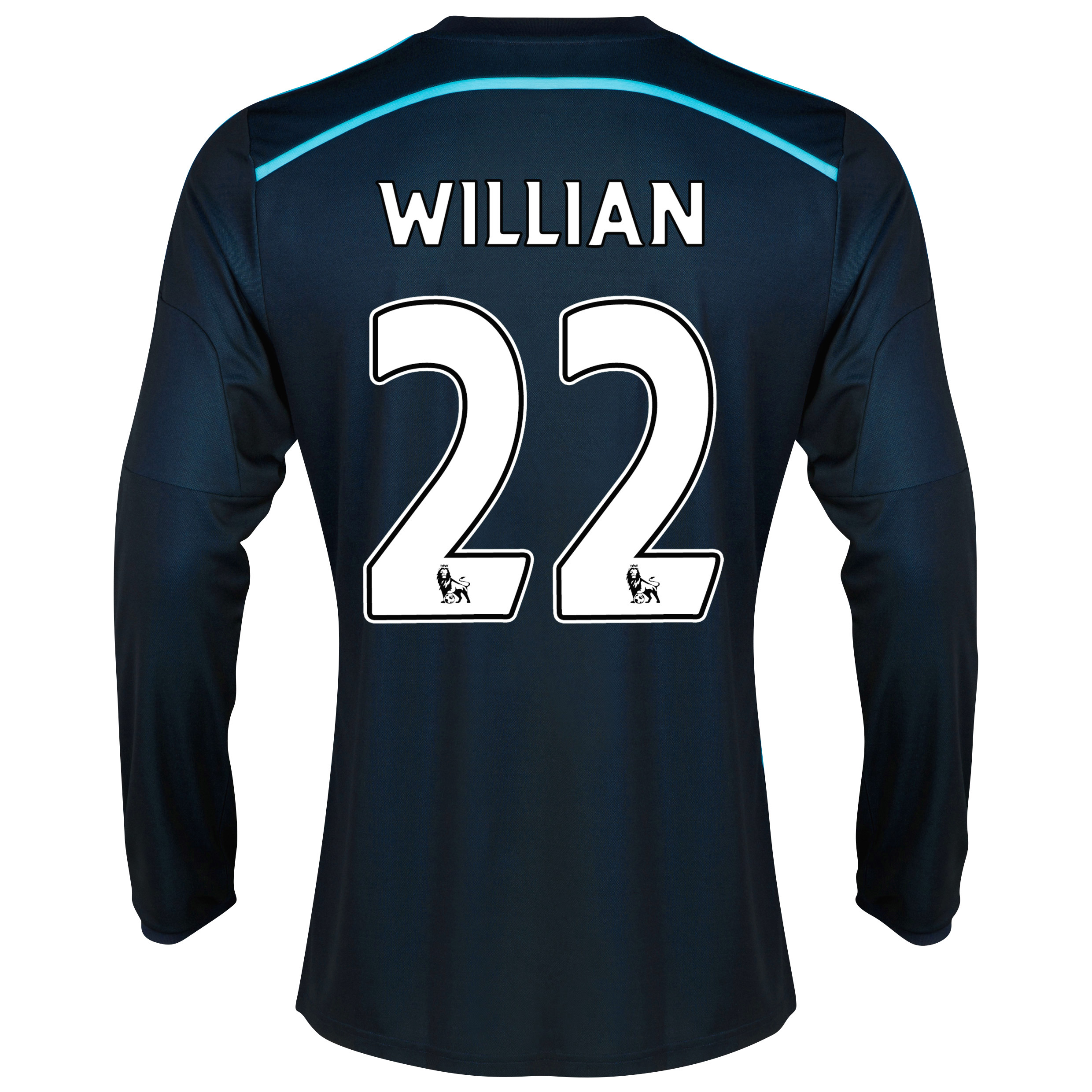Chelsea Third Shirt 2014/15 - Long Sleeve with Willian 22 printing