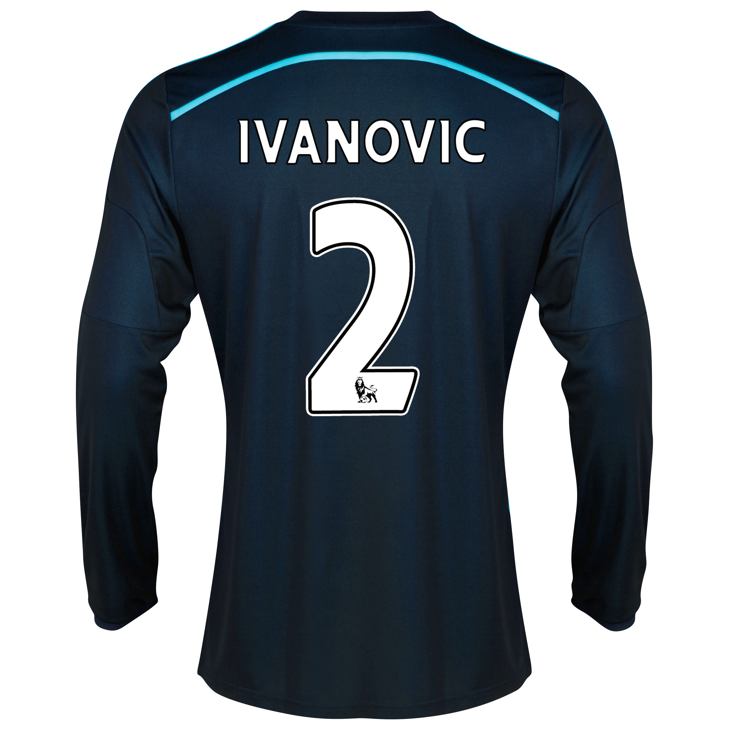 Chelsea Third Shirt 2014/15 - Long Sleeve - Kids with Ivanovic 2 printing