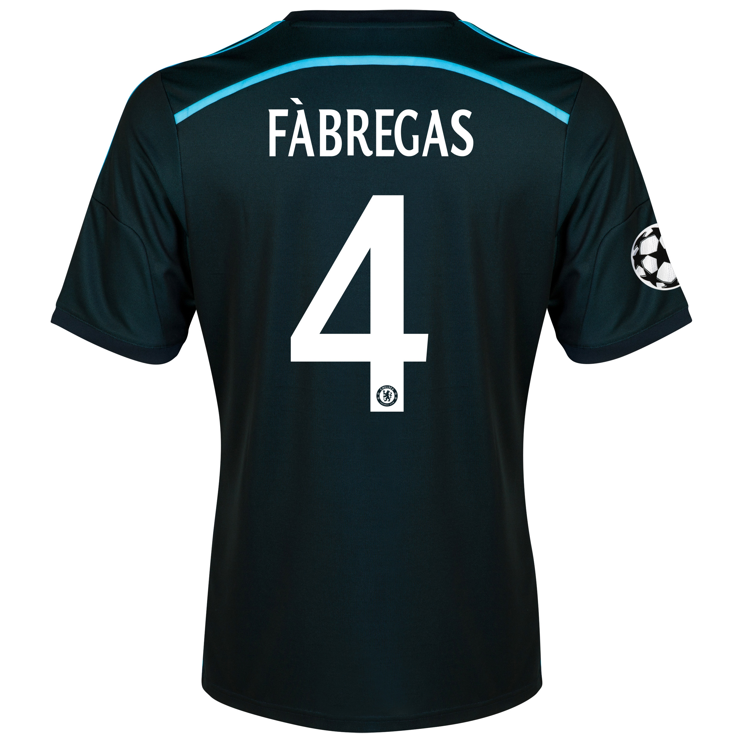 Chelsea UEFA Champions League Third Shirt 2014/15 with Fàbregas 4 printing