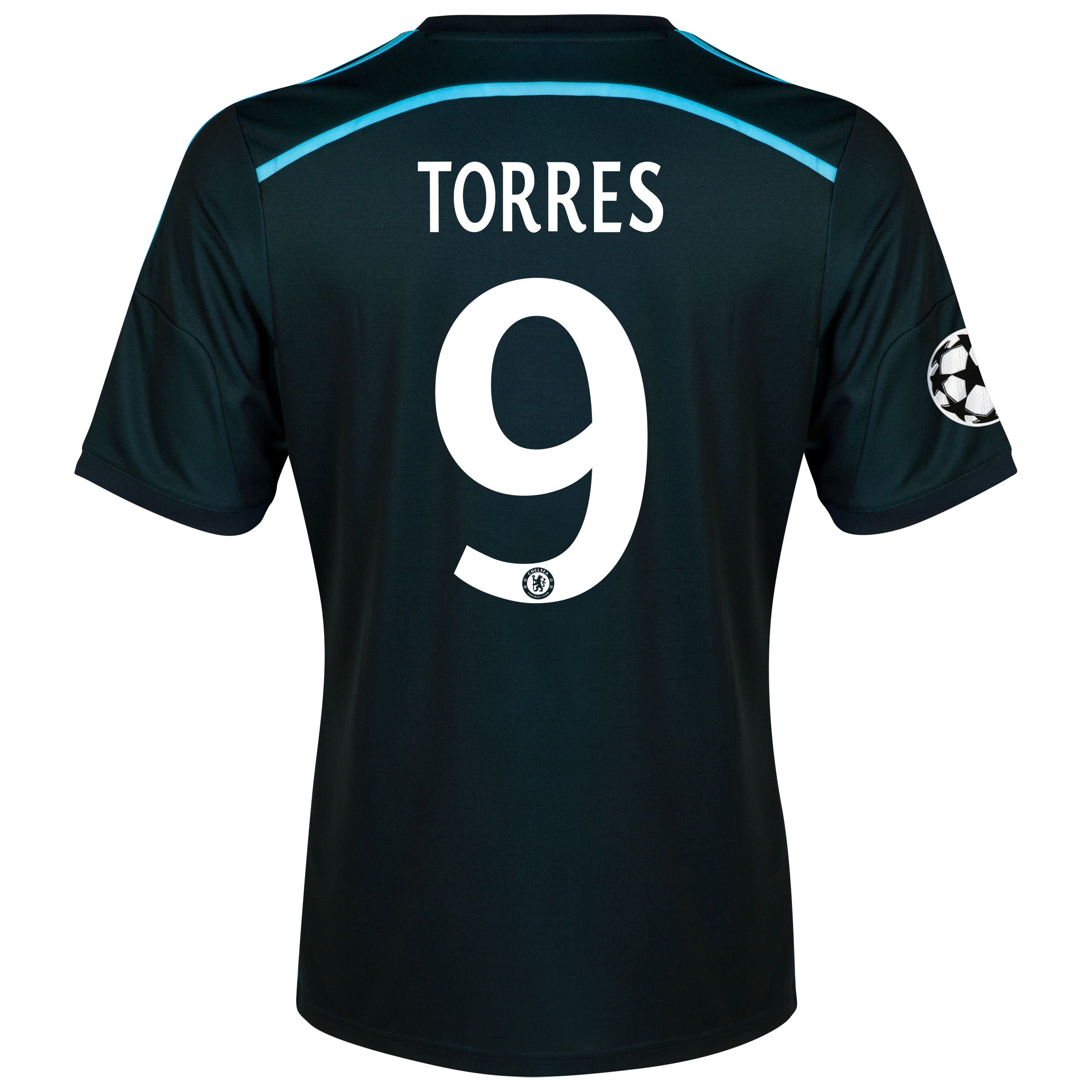 Chelsea UEFA Champions League Third Shirt 2014/15 with Torres 9 printing