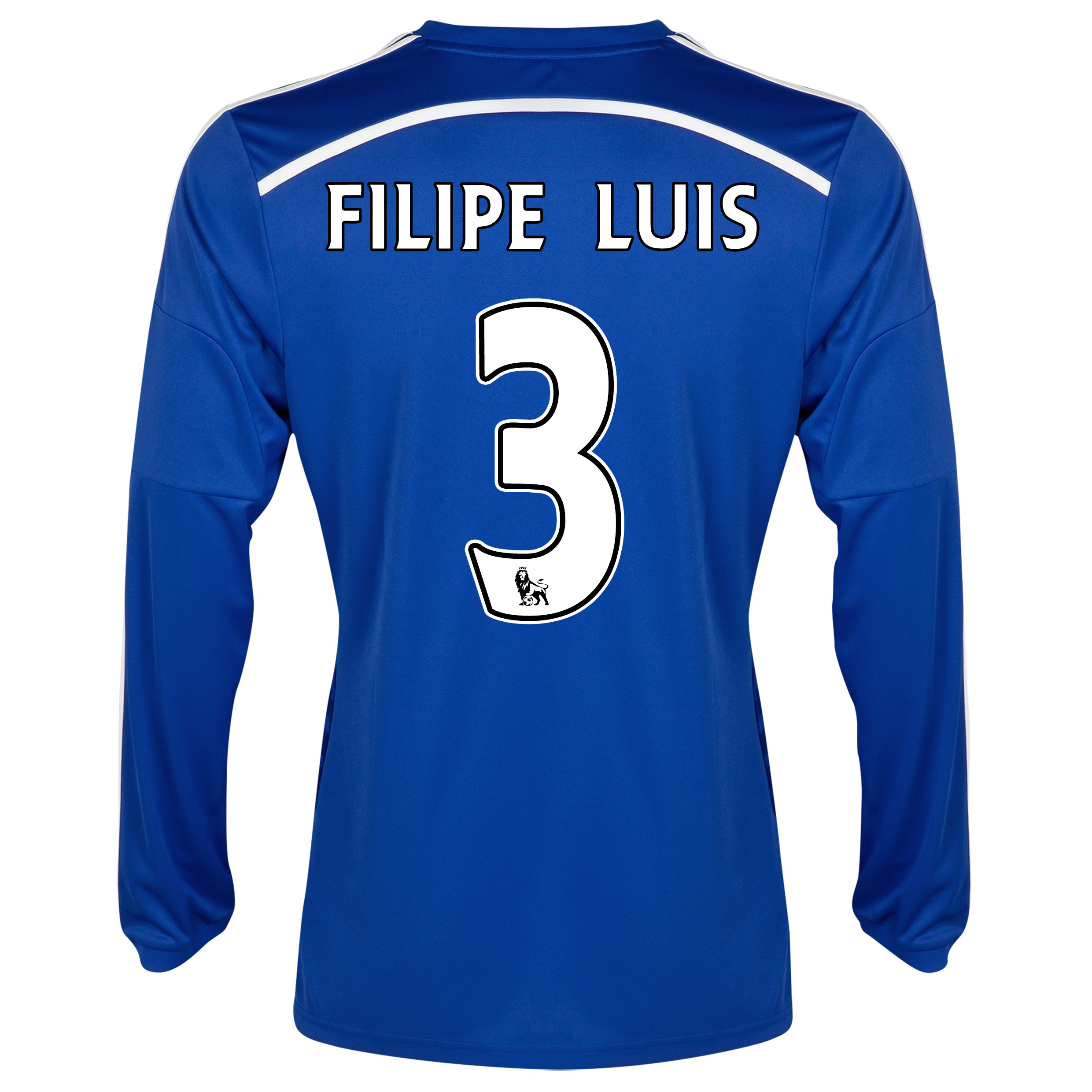 Chelsea Home Shirt 2014/15 - Long Sleeve - Kids with FILIPE LUIS 3 printing