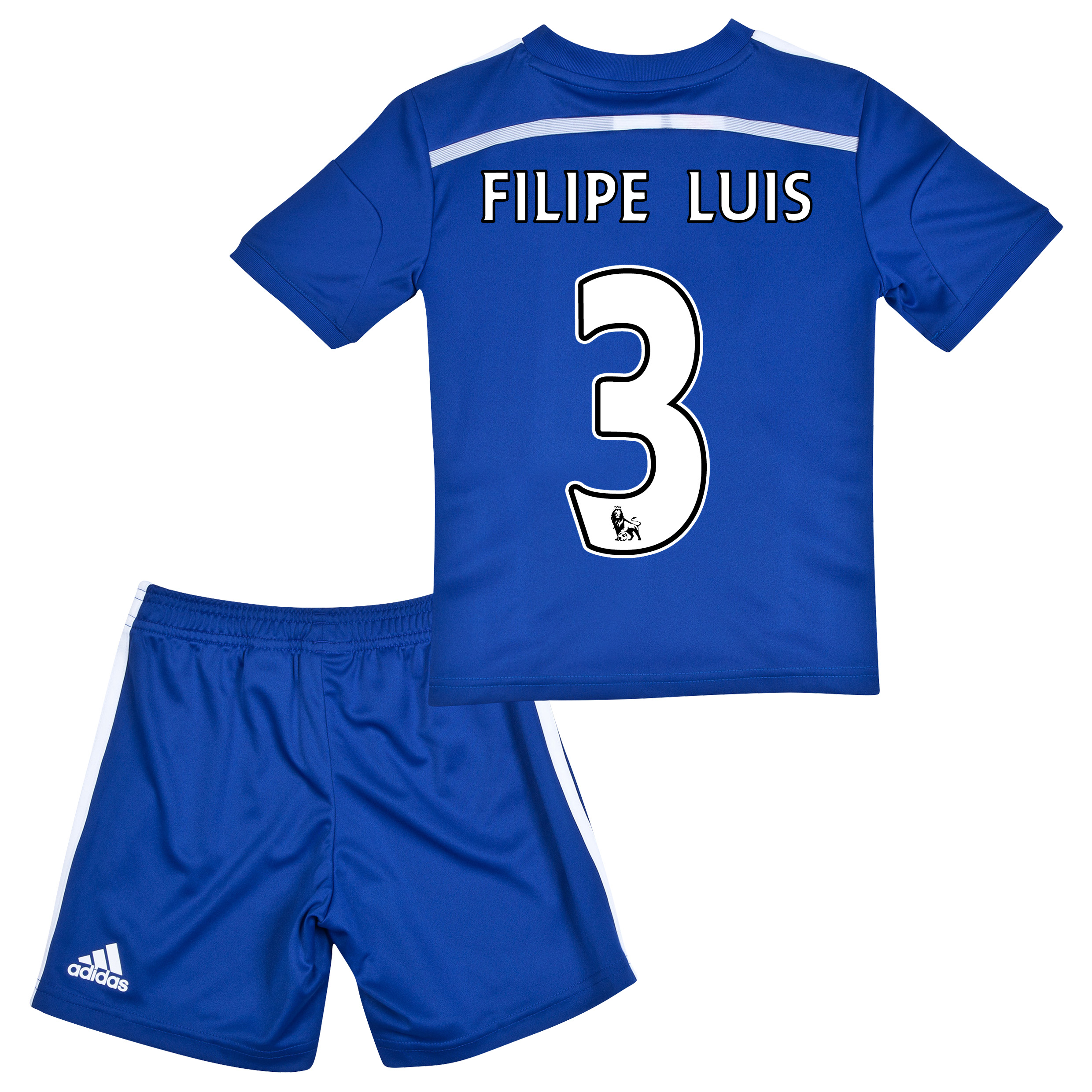 Chelsea Home Mini Kit 2014/15 with FILIPE LUIS 3 printing