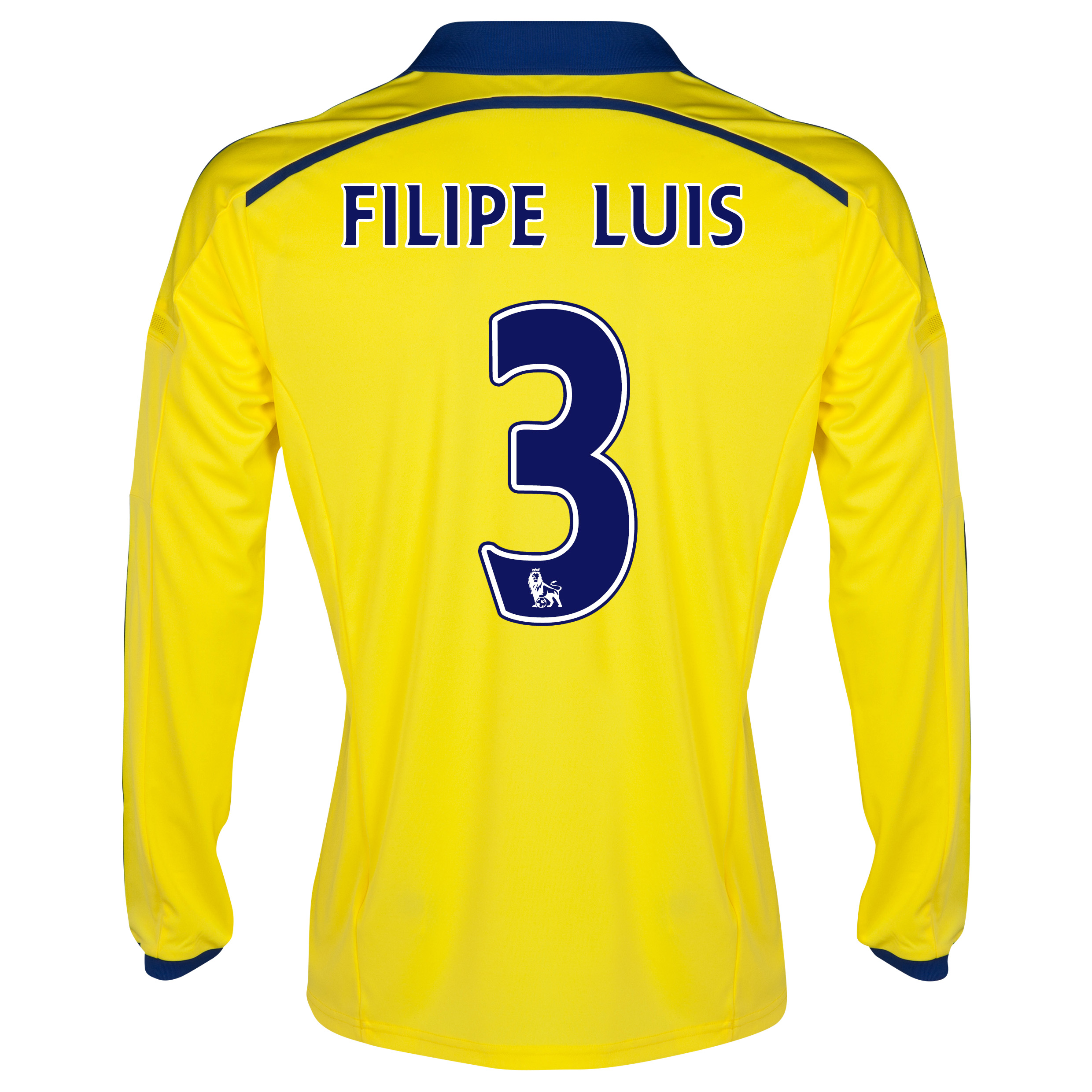 Chelsea Away Shirt 2014/15 - Long Sleeve - Kids with FILIPE LUIS 3 printing