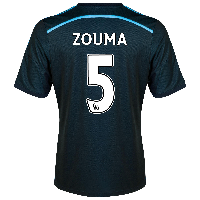 Chelsea Third Shirt 201415 with ZOUMA 5 printing