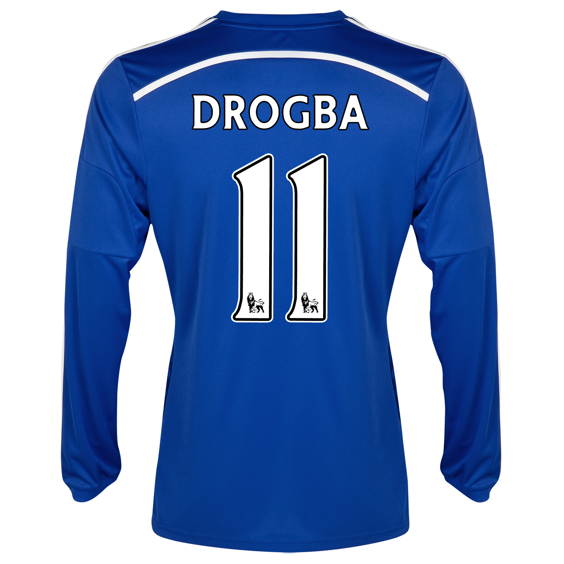 Chelsea Home Shirt 2014/15 - Long Sleeve - Kids with Drogba 15 printing