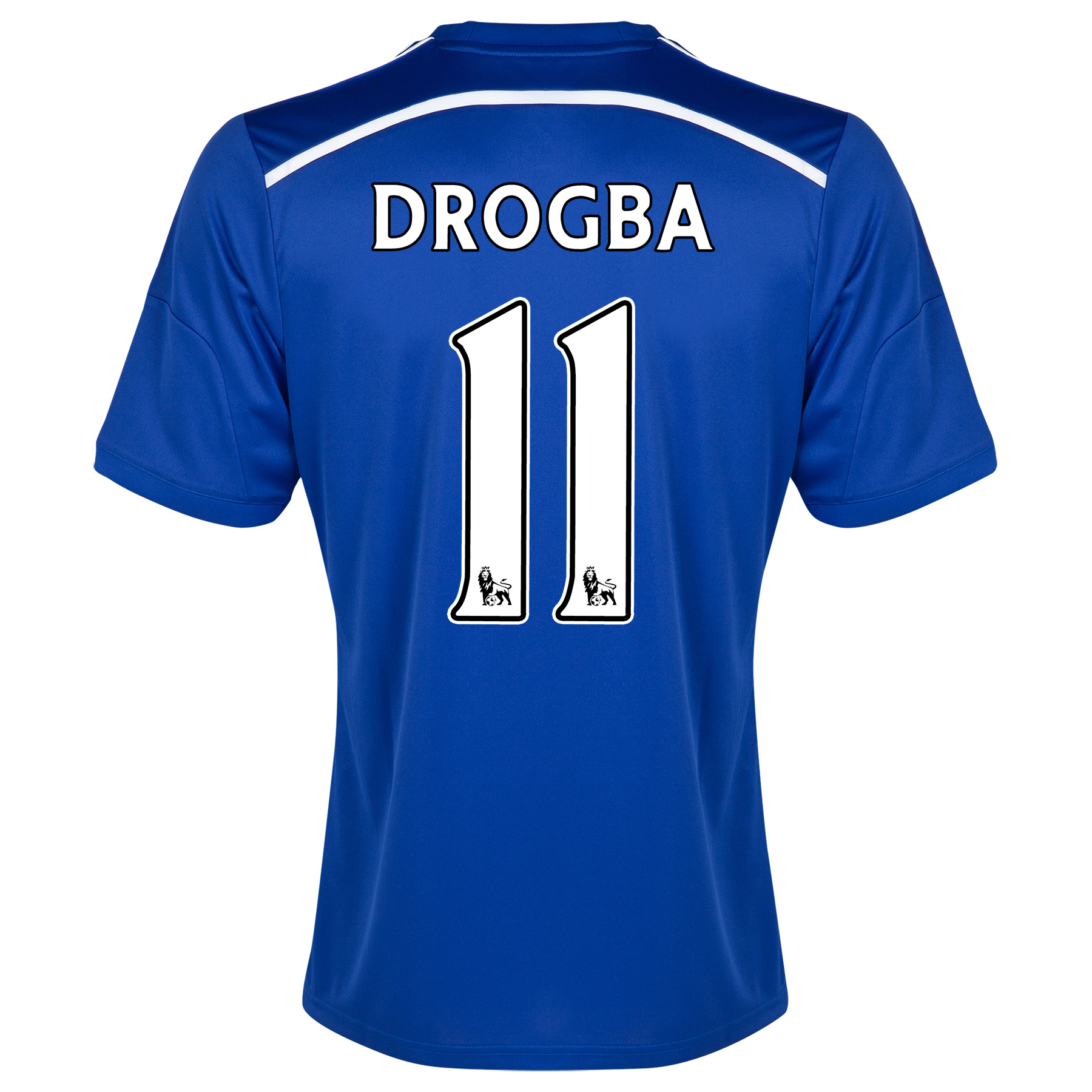 Chelsea Home Shirt 2014/15 - Outsize with Drogba 15 printing