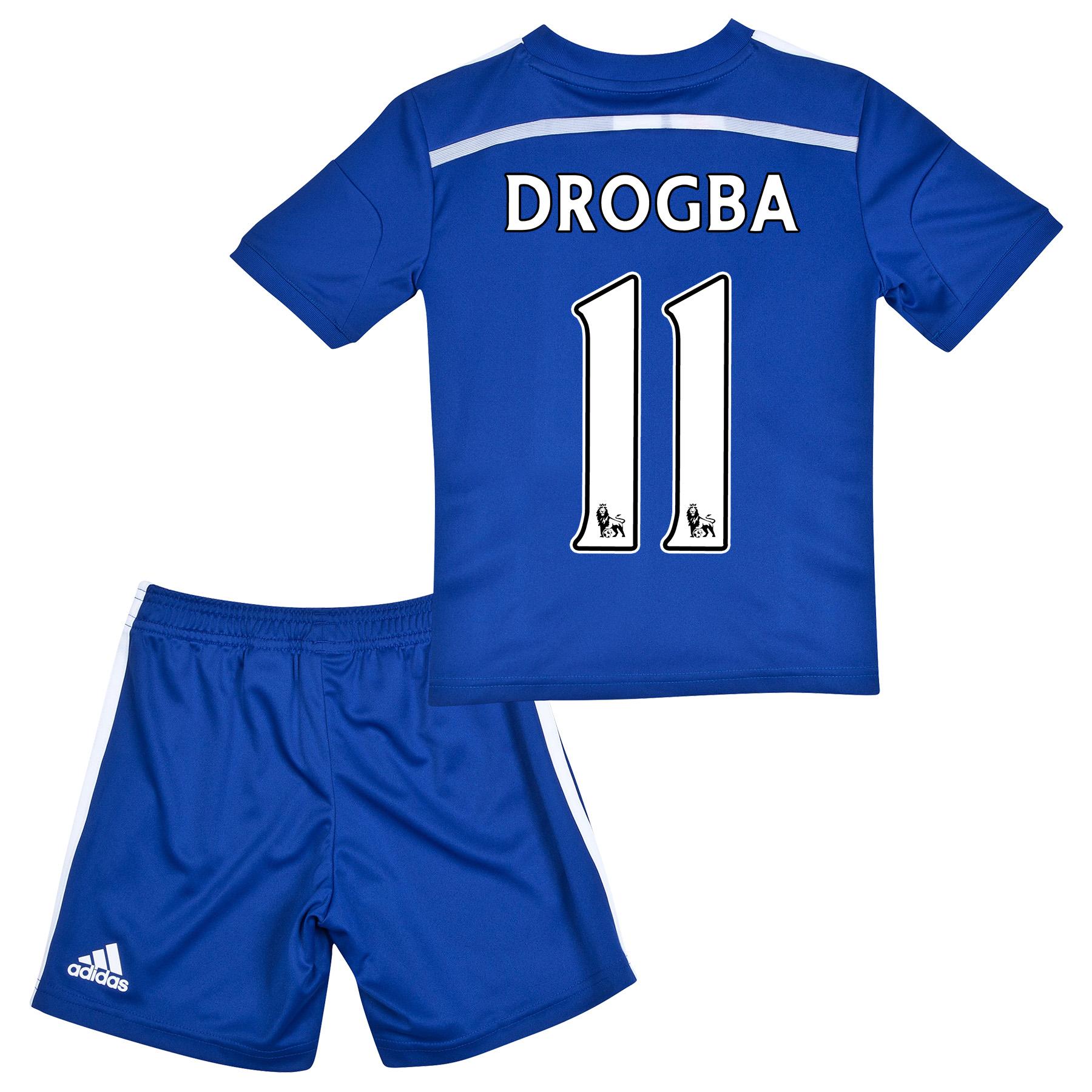 Chelsea Home Mini Kit 2014/15 with Drogba 11 printing