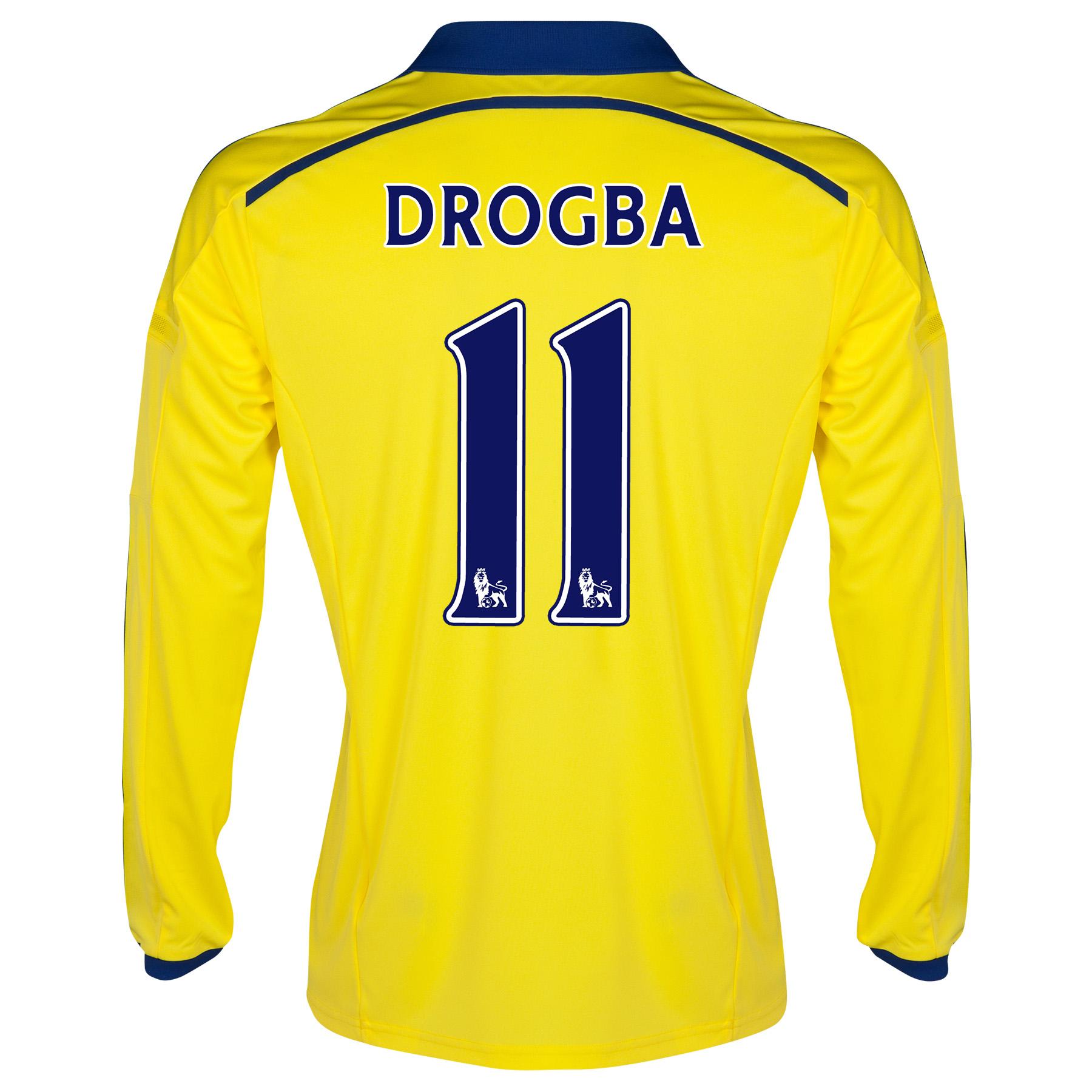 Chelsea Away Shirt 2014/15 - Long Sleeve with Drogba 11 printing