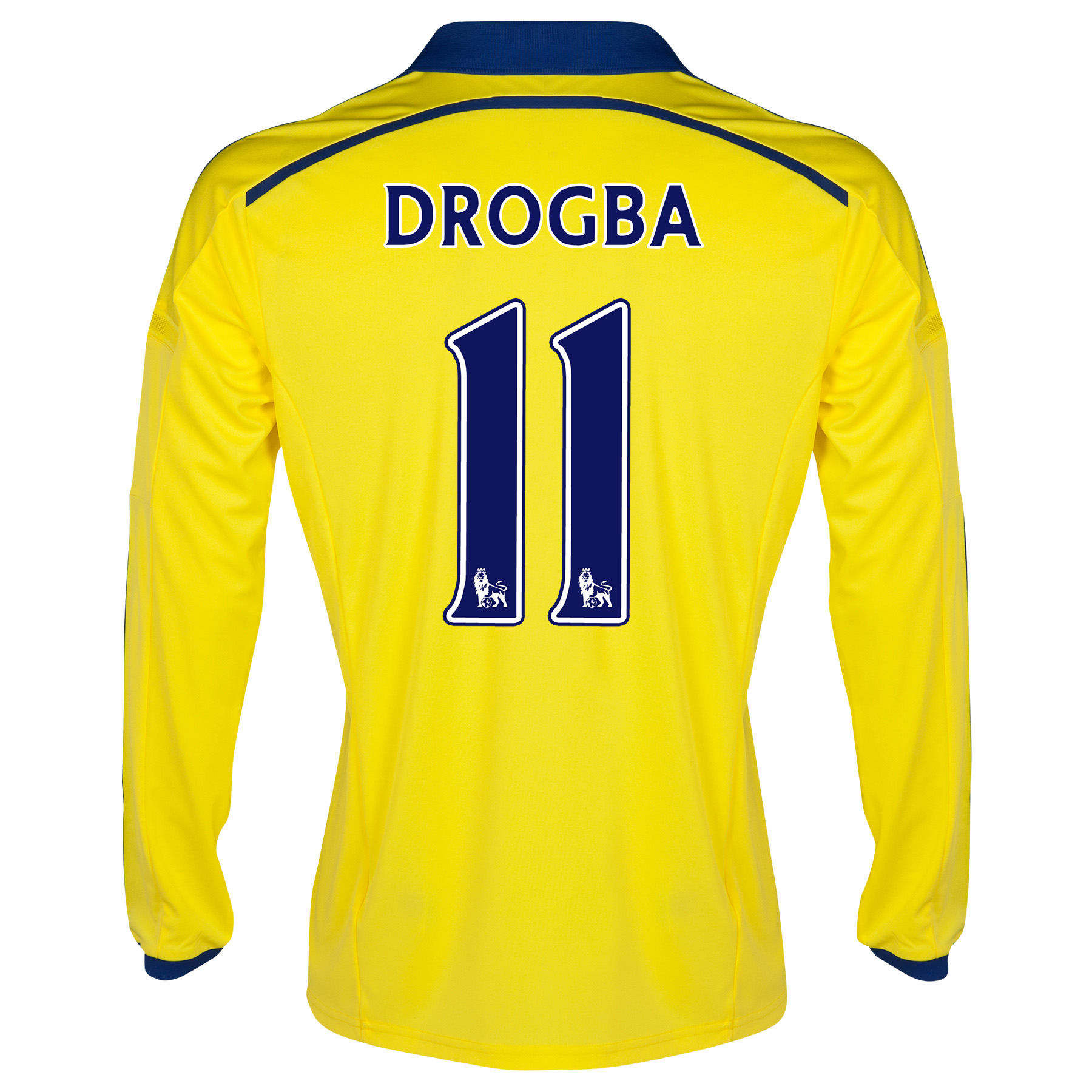 Chelsea Away Shirt 2014/15 - Long Sleeve - Kids with Drogba 15 printing