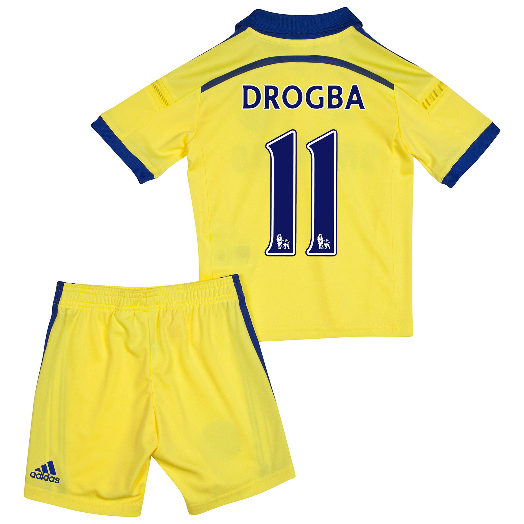 Chelsea Away Mini Kit 2014/15 with Drogba 15 printing
