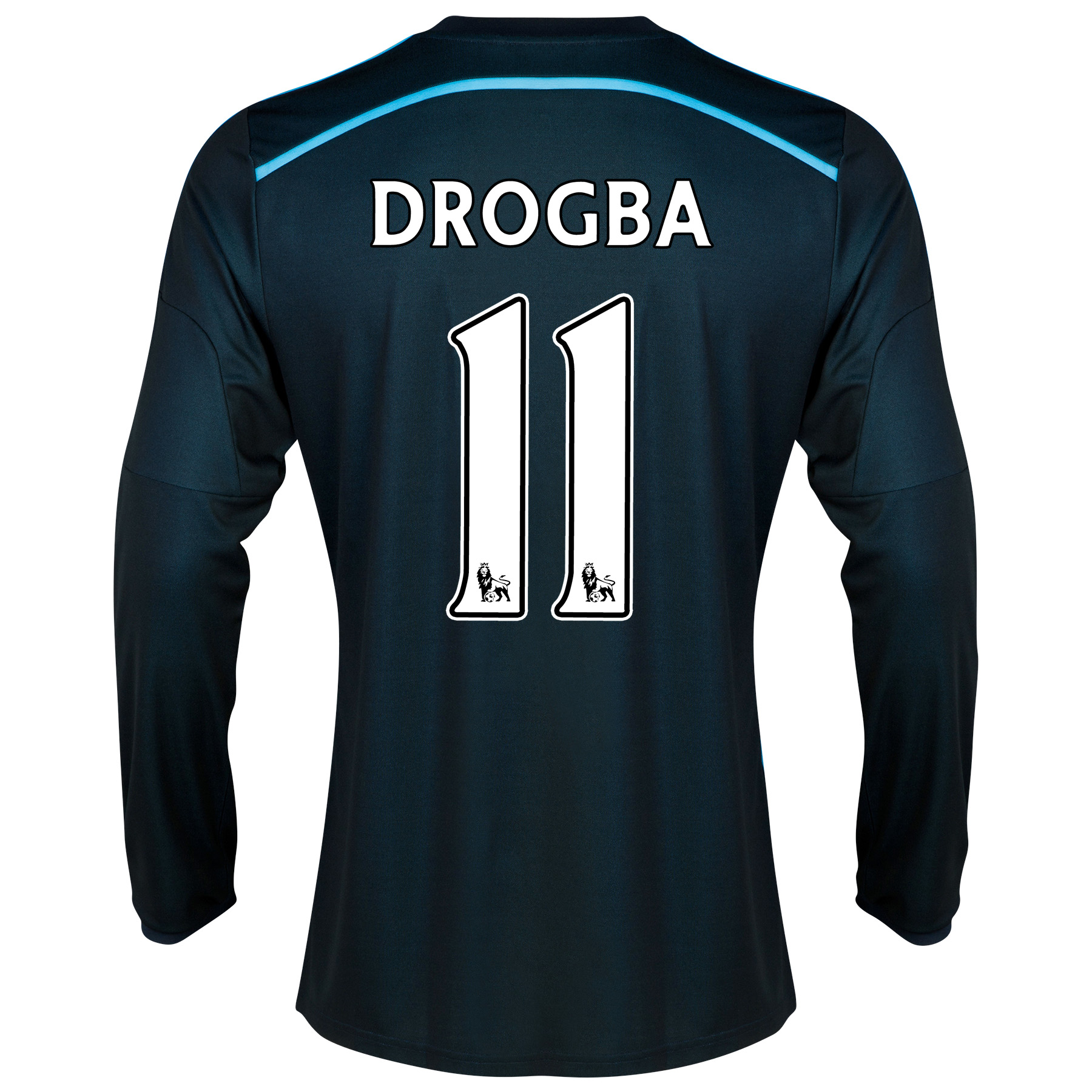 Chelsea Third Shirt 2014/15 - Long Sleeve - Kids with Drogba 15 printing