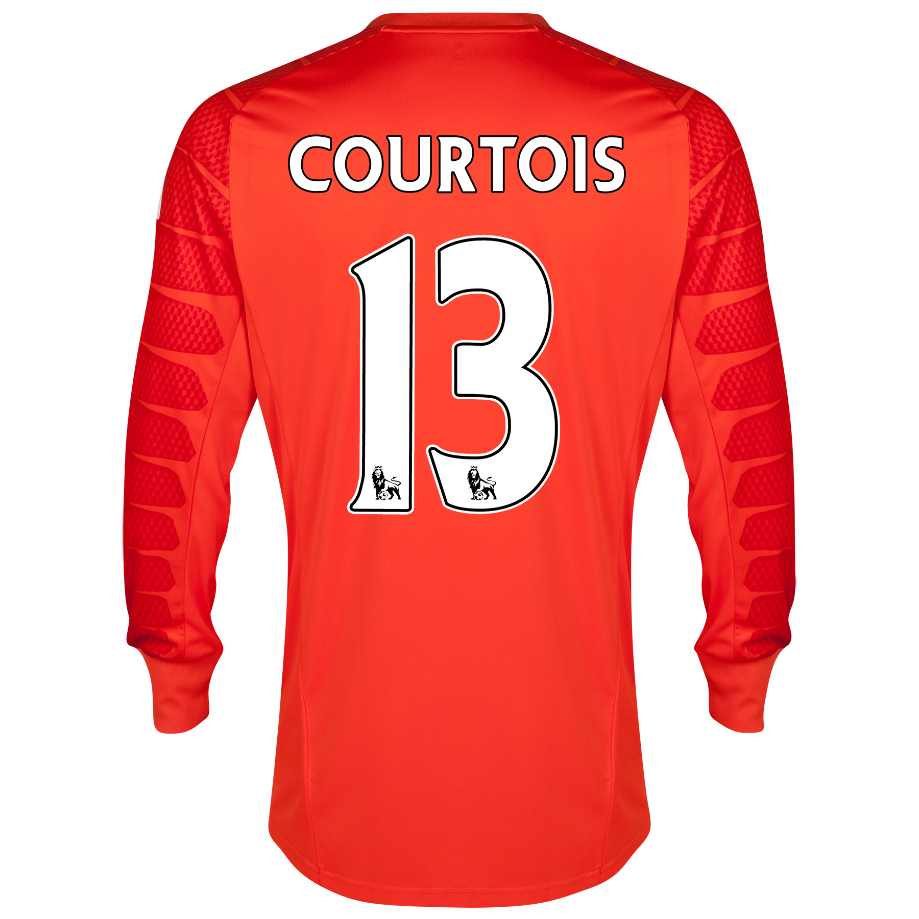 Chelsea Goalkeeper Shirt 2014/15 - Kids - Solar with Courtois 13 printing