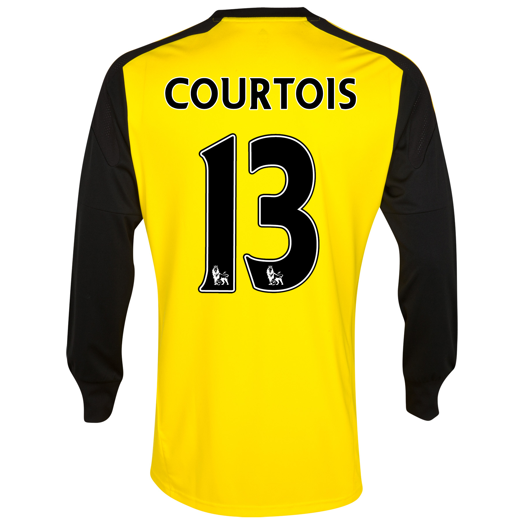 Chelsea Home Goalkeeper Shirt 2013/14 kids with Courtois 13 printing