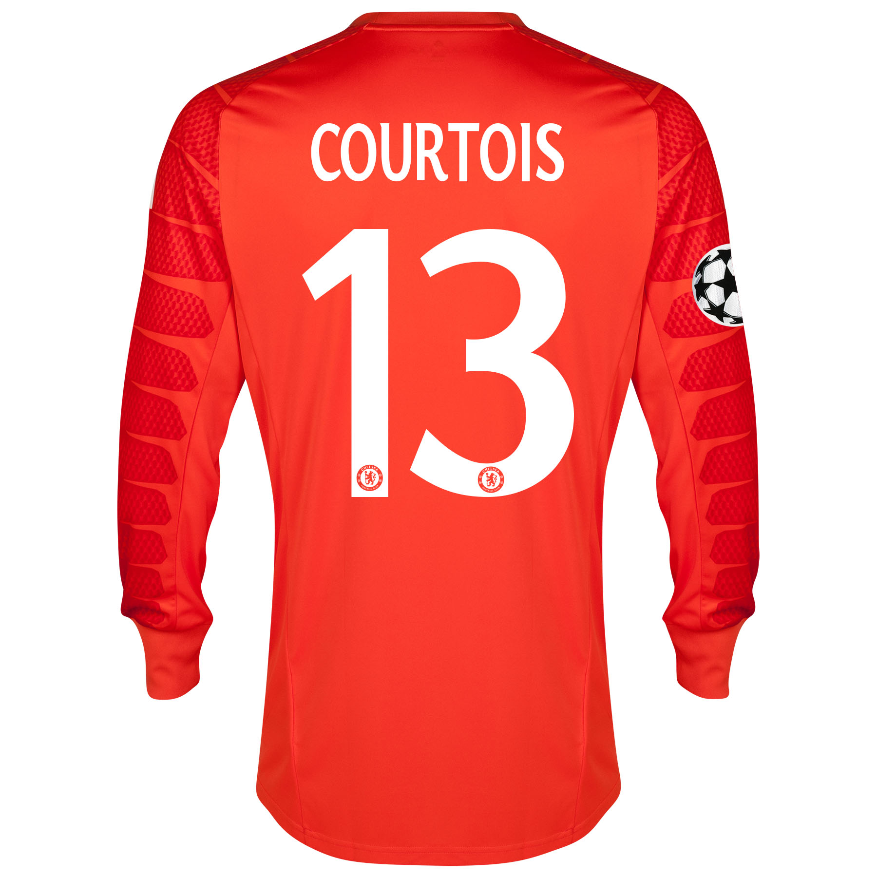 Chelsea UEFA Champions League Goalkeeper Shirt 2014/15 - Solar with Courtois 13 printing