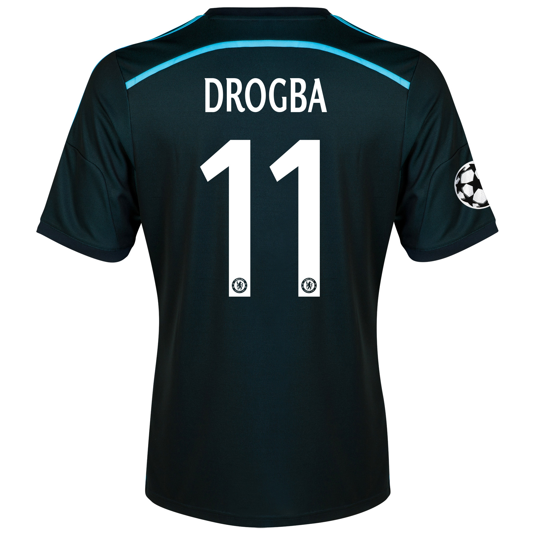 Chelsea UEFA Champions League Third Shirt 2014/15 with Drogba 11 printing