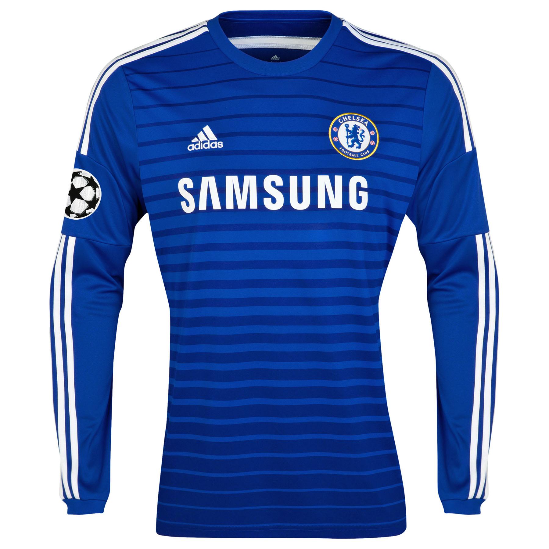 Chelsea UEFA Champions League Home Shirt 2014/15 - Long Sleeve
