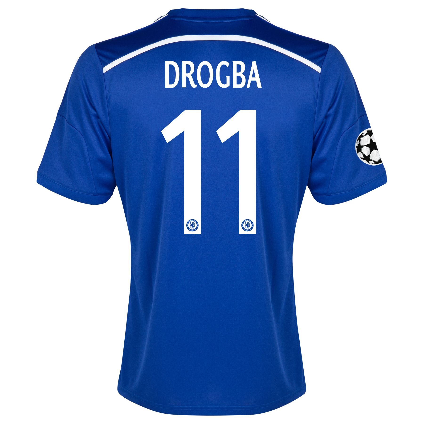 Chelsea Uefa Champions League Home Shirt 2014/15 - Outsize with Drogba 11 printing