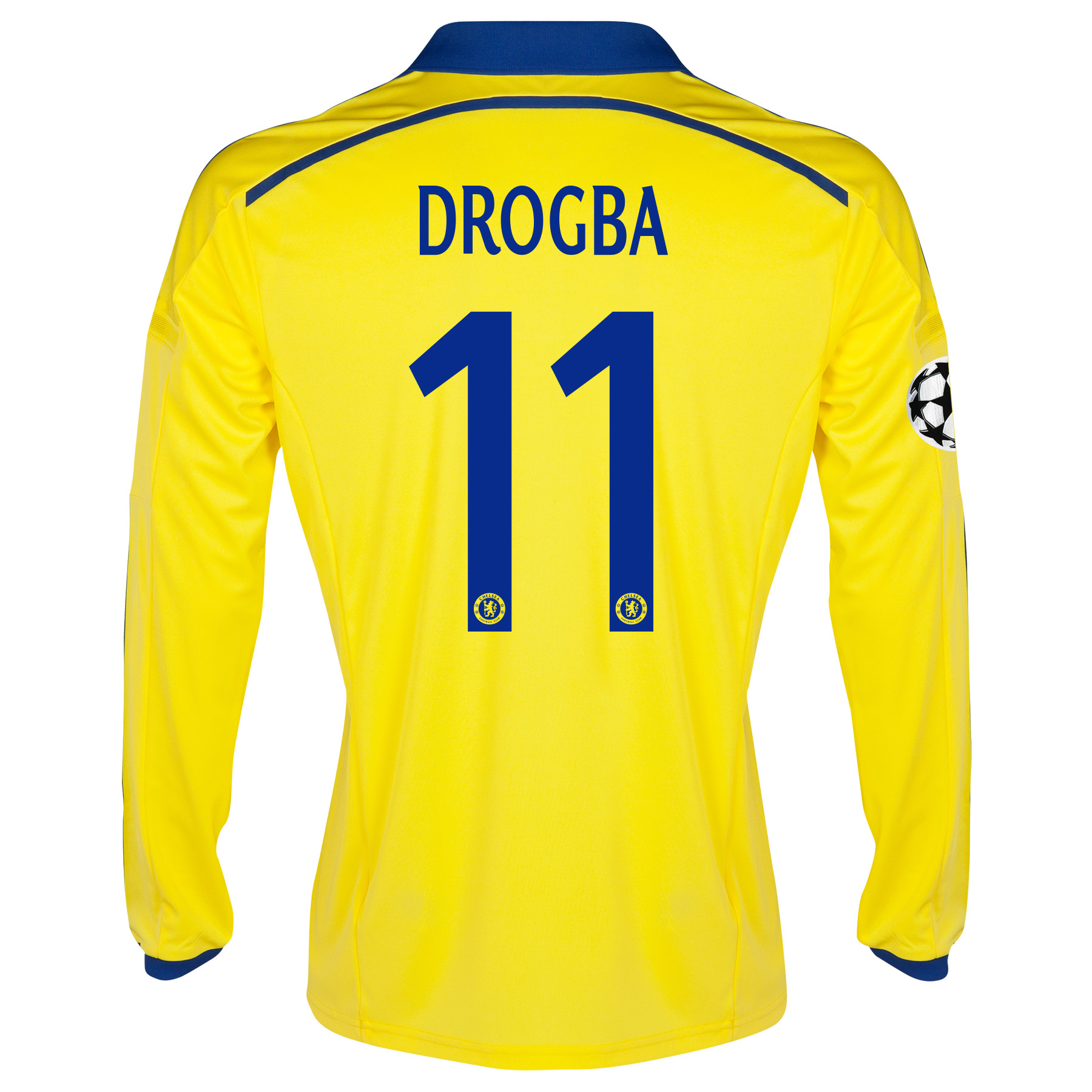 Chelsea Away Shirt 2014/15 - Long Sleeve - Kids with Drogba 11 printing