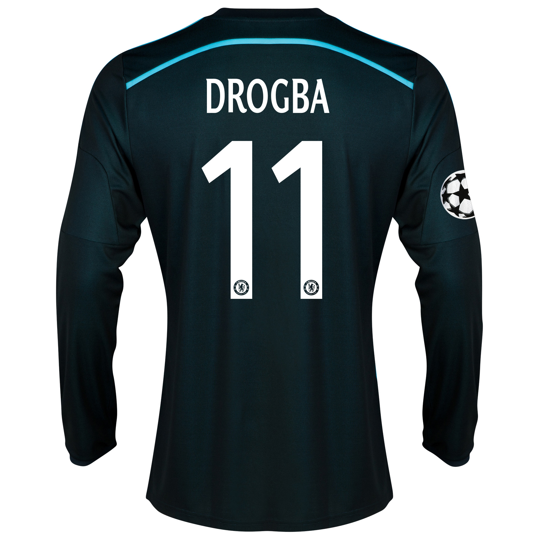 Chelsea Third Shirt 2014/15 - Long Sleeve - Kids with Drogba 11 printing