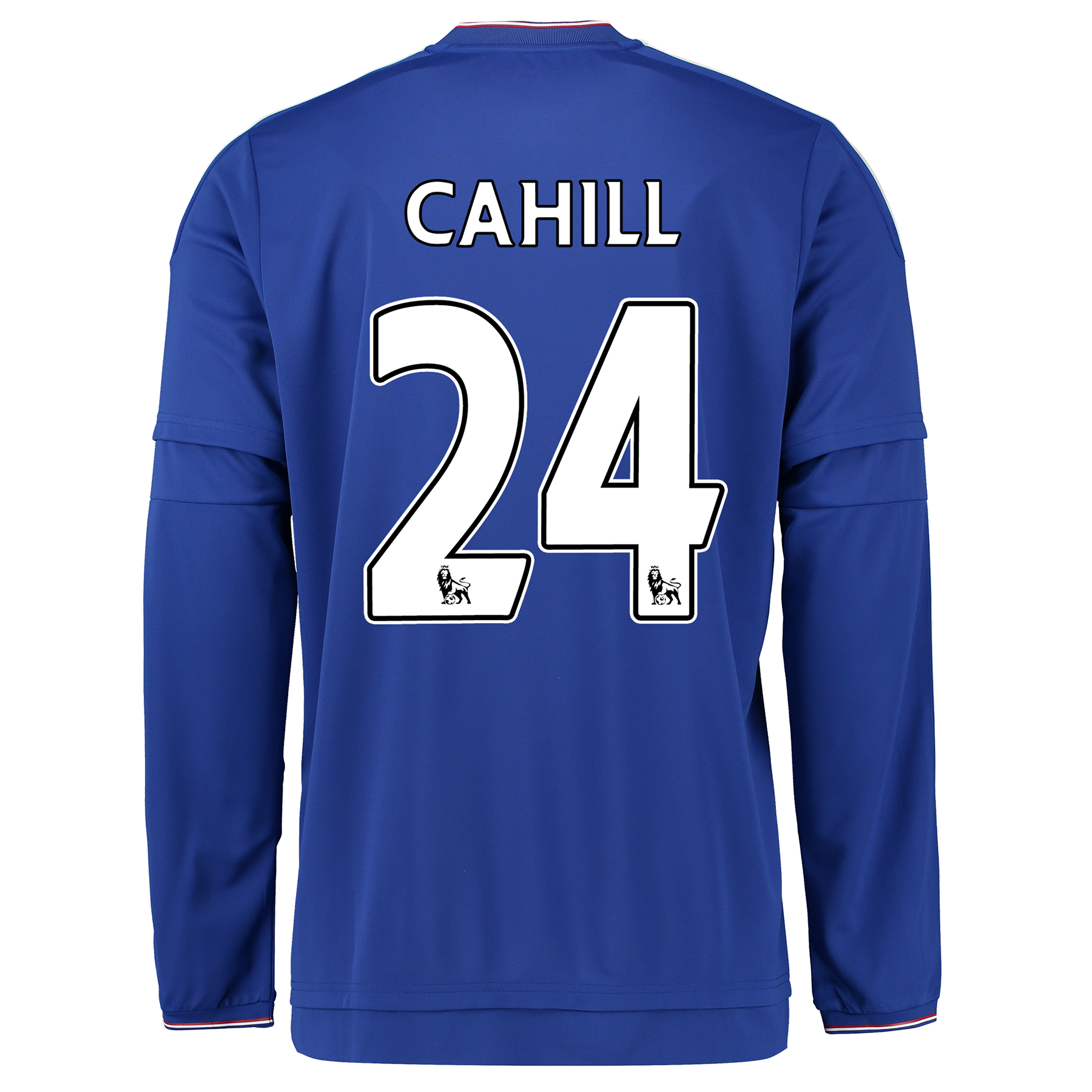 Chelsea Home Shirt 2015/16 - Long Sleeve Blue with Cahill 24 printing