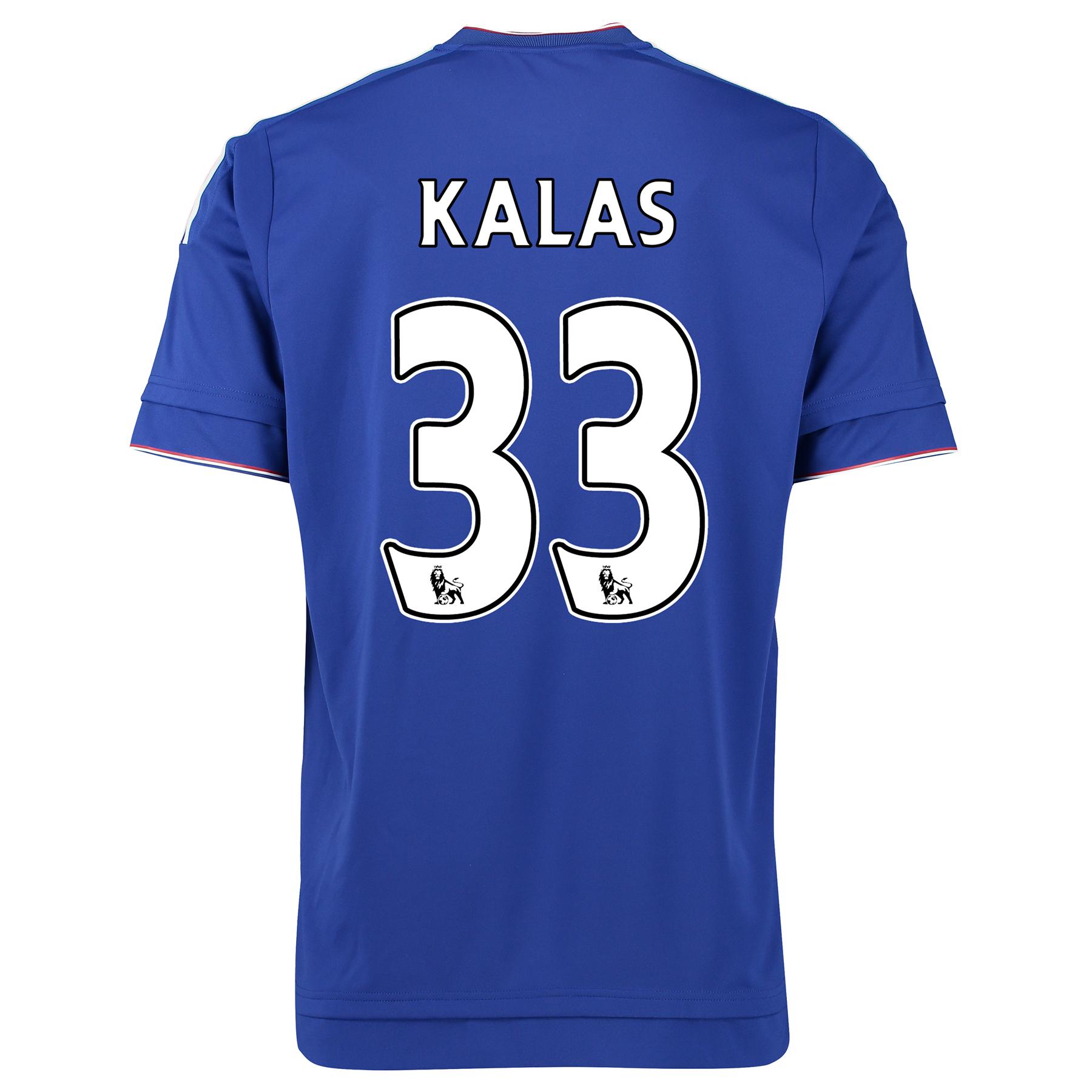 Chelsea Home Shirt 2015/16 Kids Blue with Kalas 33 printing