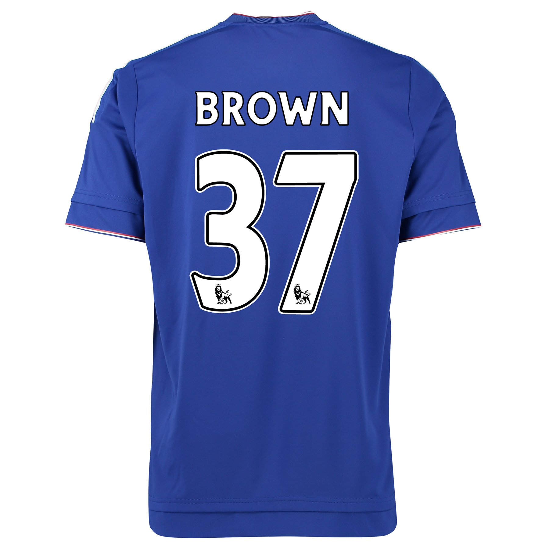 Chelsea Home Shirt 2015/16 Kids Blue with Brown 37 printing