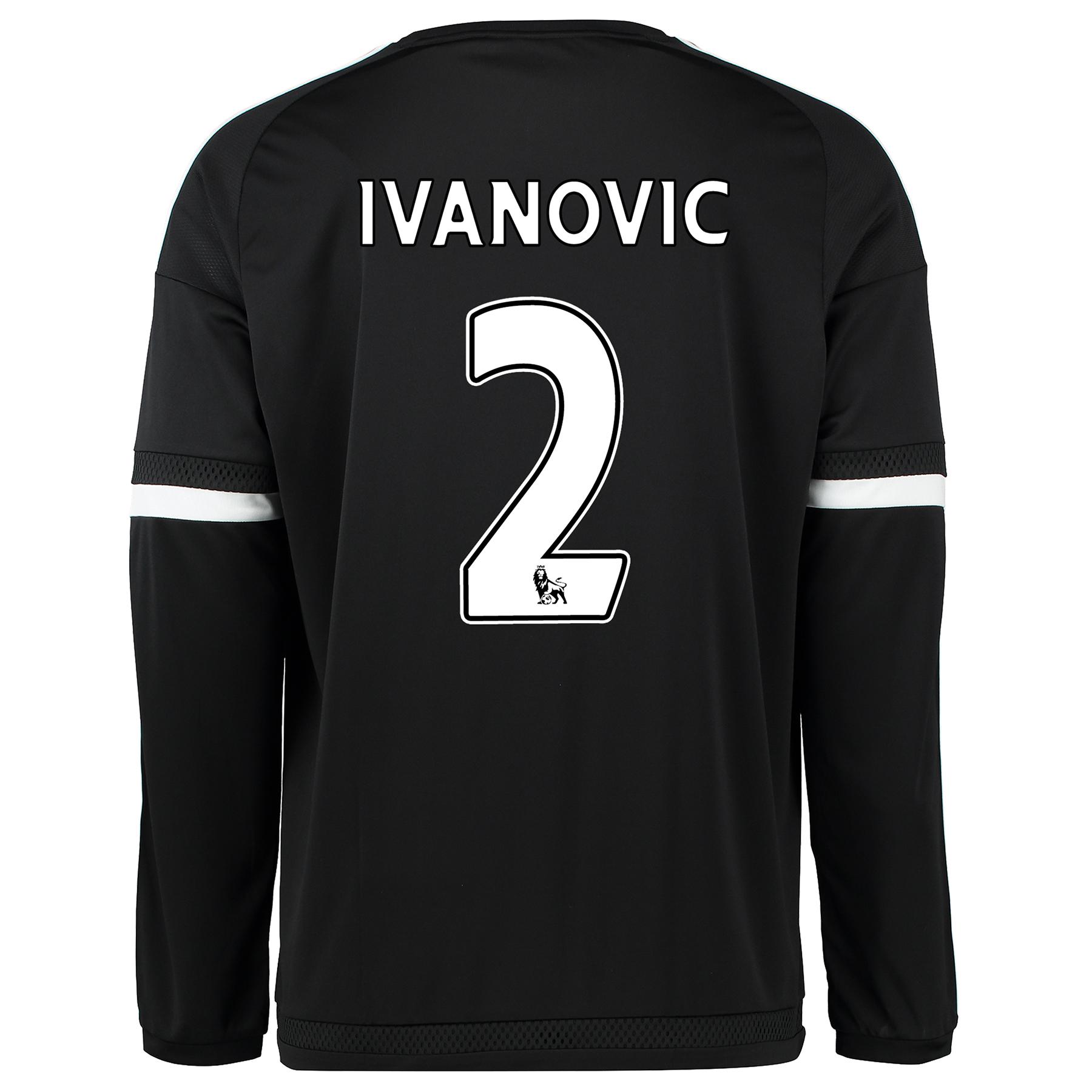 Chelsea Third Shirt 2015/16 - Long Sleeve Black with Ivanovic 2 printi