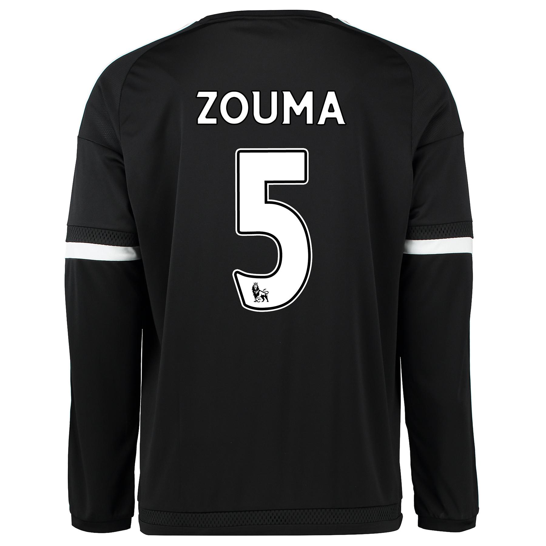 Chelsea Third Shirt 2015/16 - Long Sleeve Black with ZOUMA 5 printing