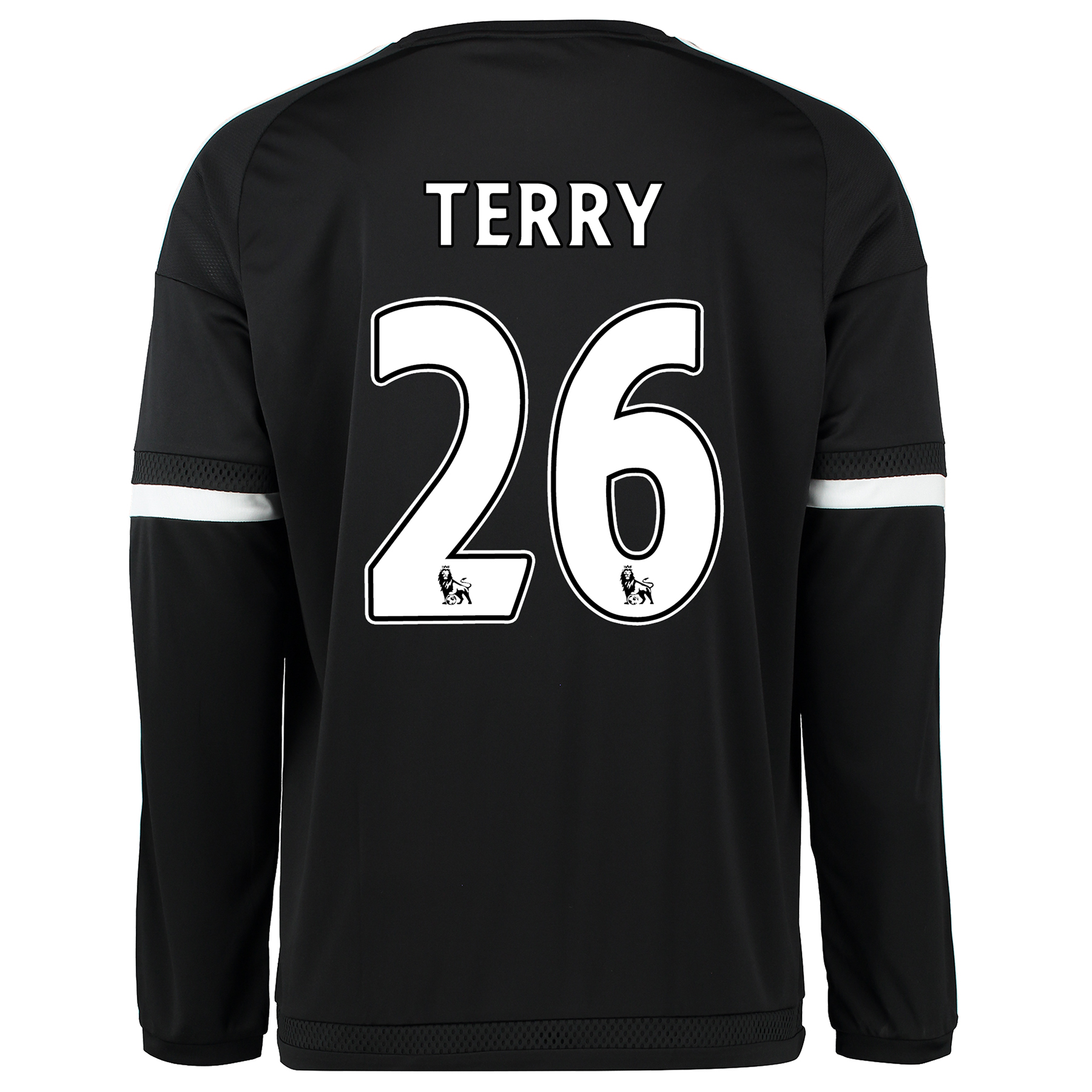 Chelsea Third Shirt 2015/16 - Long Sleeve Black with Terry 26 printing
