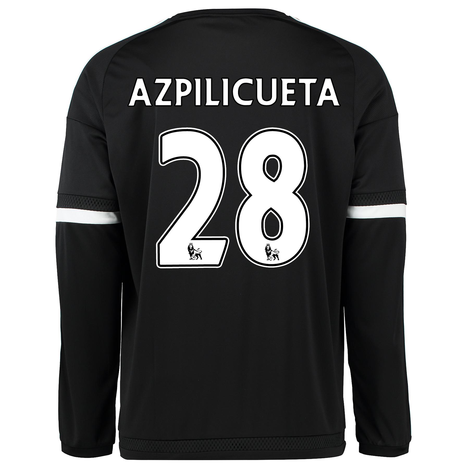 Chelsea Third Shirt 2015/16 - Long Sleeve Black with Azpilicueta 28 pr