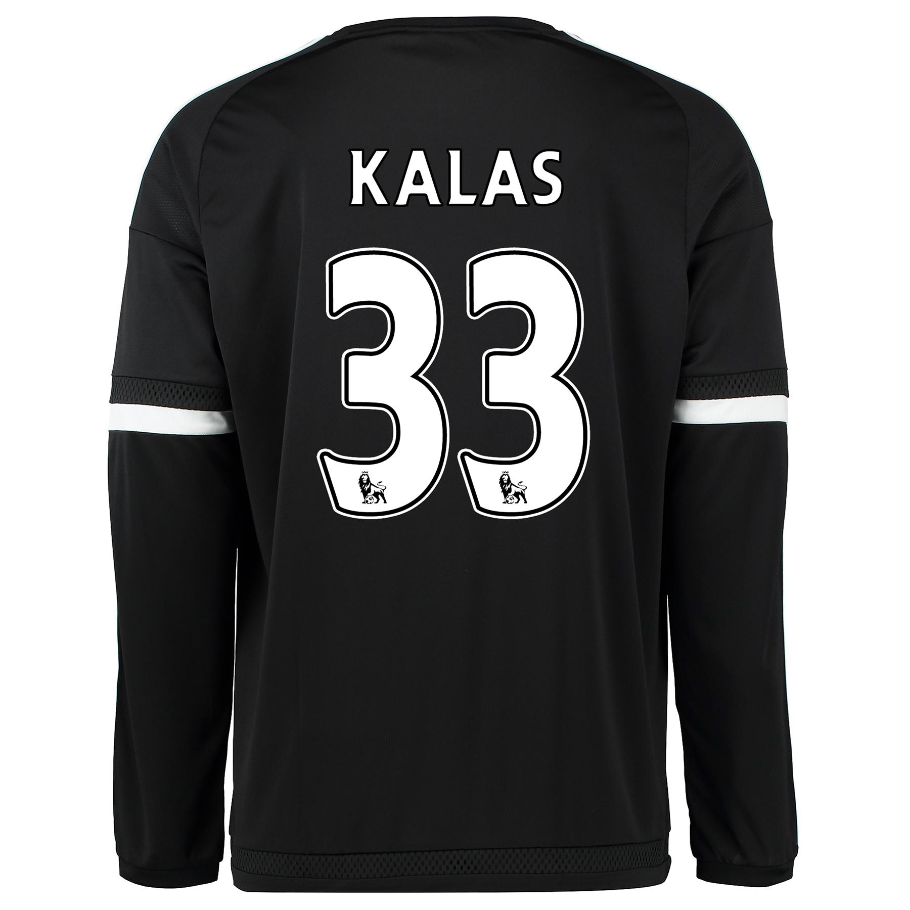 Chelsea Third Shirt 2015/16 - Long Sleeve Black with Kalas 33 printing