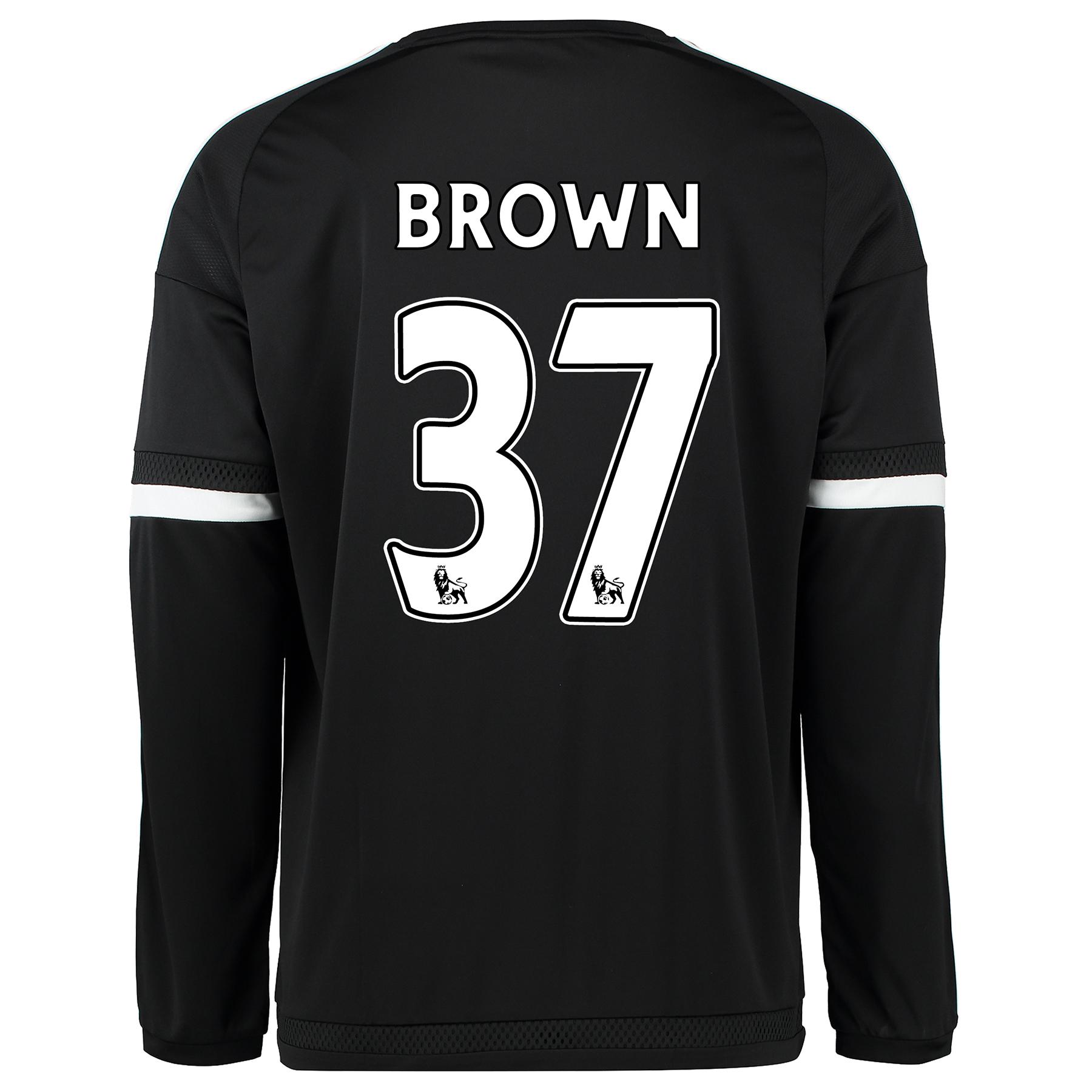 Chelsea Third Shirt 2015/16 - Long Sleeve Black with Brown 37 printing