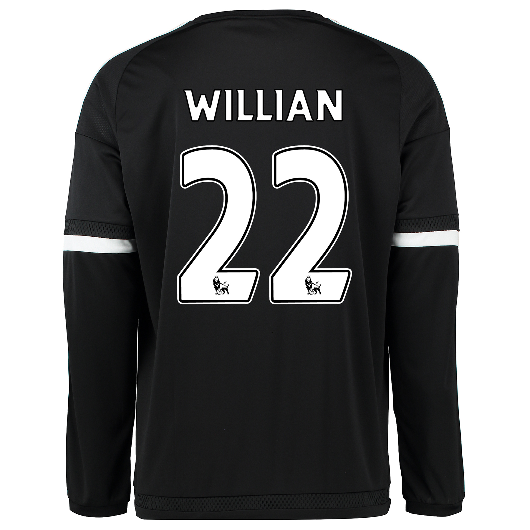 Chelsea Third Shirt 2015/16 - Long Sleeve - Kids Black with Willian 22