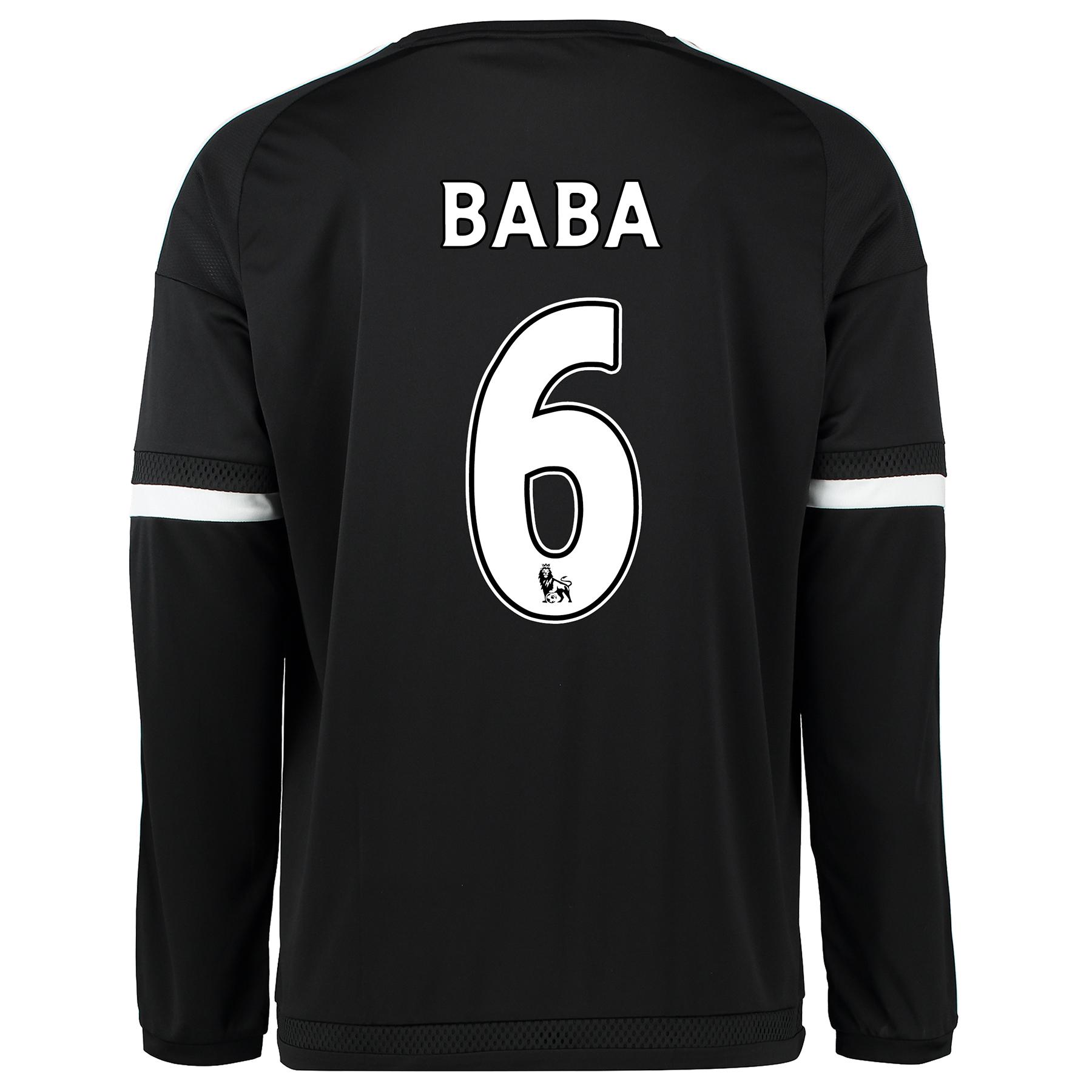 Chelsea Third Shirt 2015/16 - Long Sleeve Black with Baba 6 printing