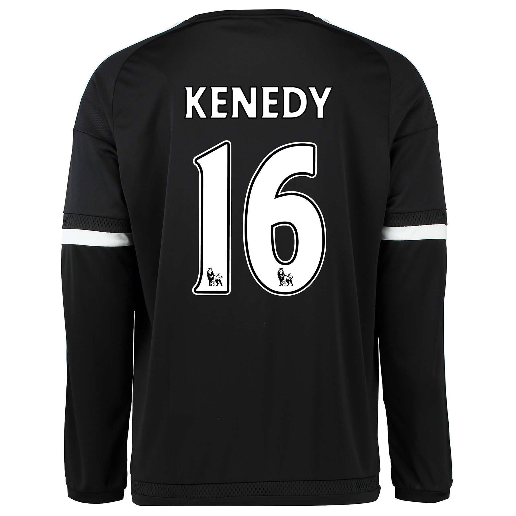 Chelsea Third Shirt 2015/16 - Long Sleeve Black with Kenedy 16 printin