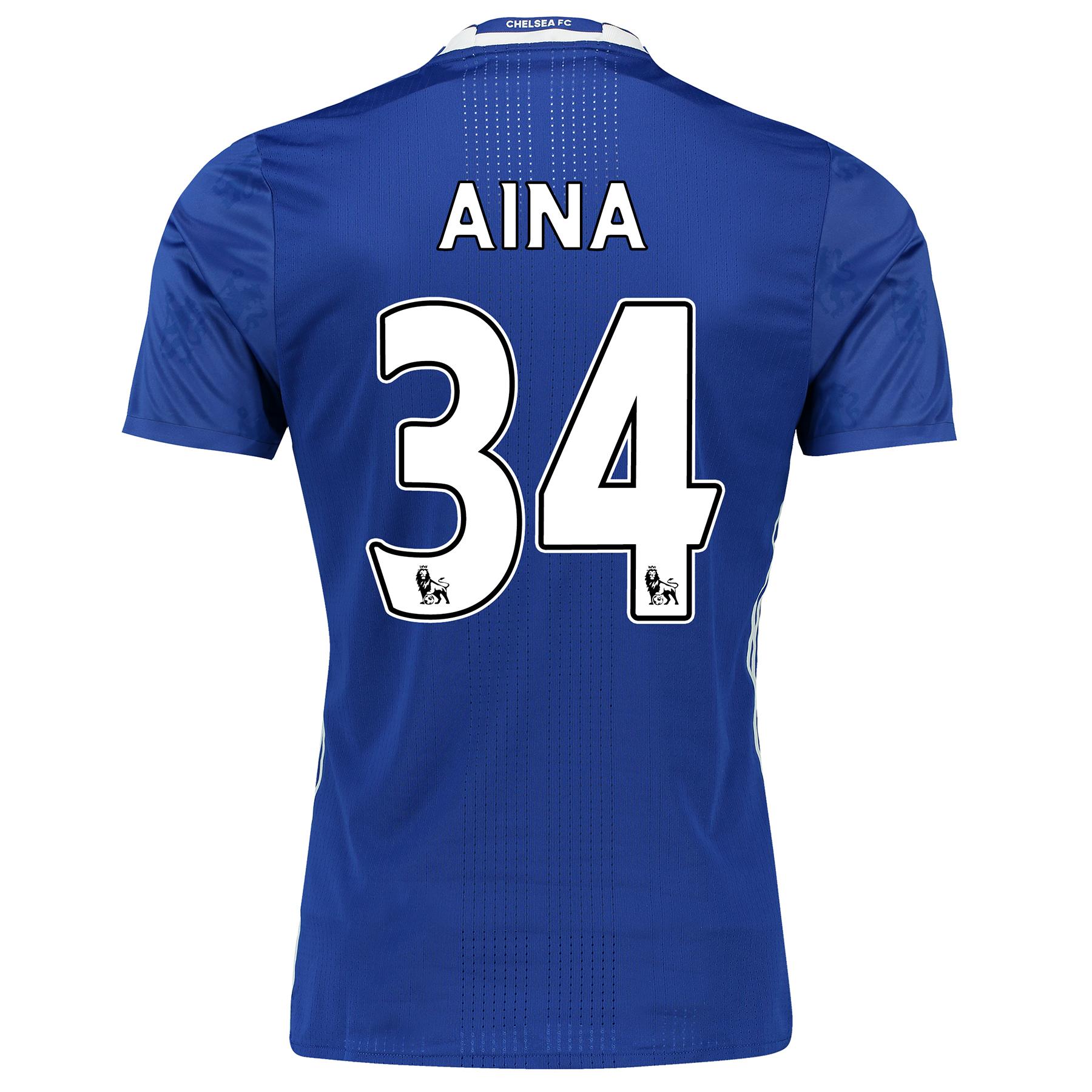 Chelsea Home Adi Zero Shirt 2016-17 with Aina 34 printing