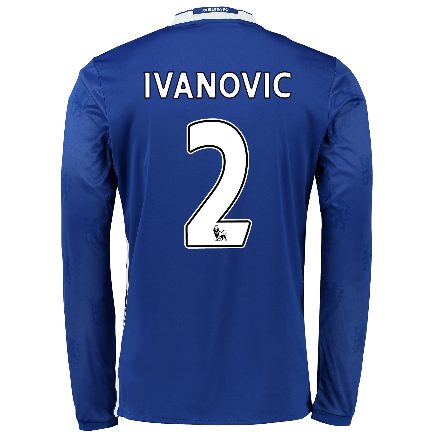Chelsea Home Shirt 2016-17 - Long Sleeve with Ivanovic 2 printing