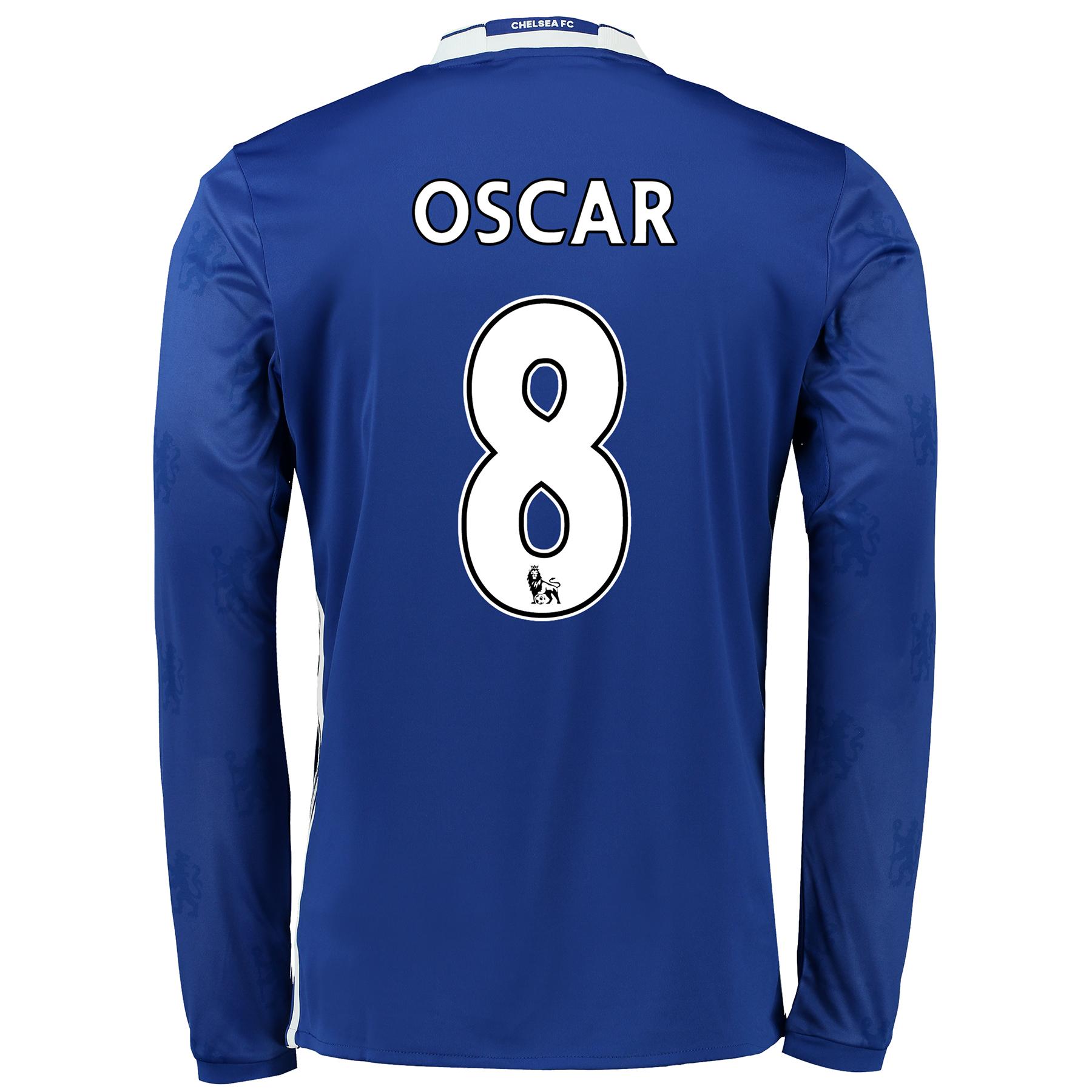 Chelsea Home Shirt 2016-17 - Long Sleeve with Oscar 8 printing